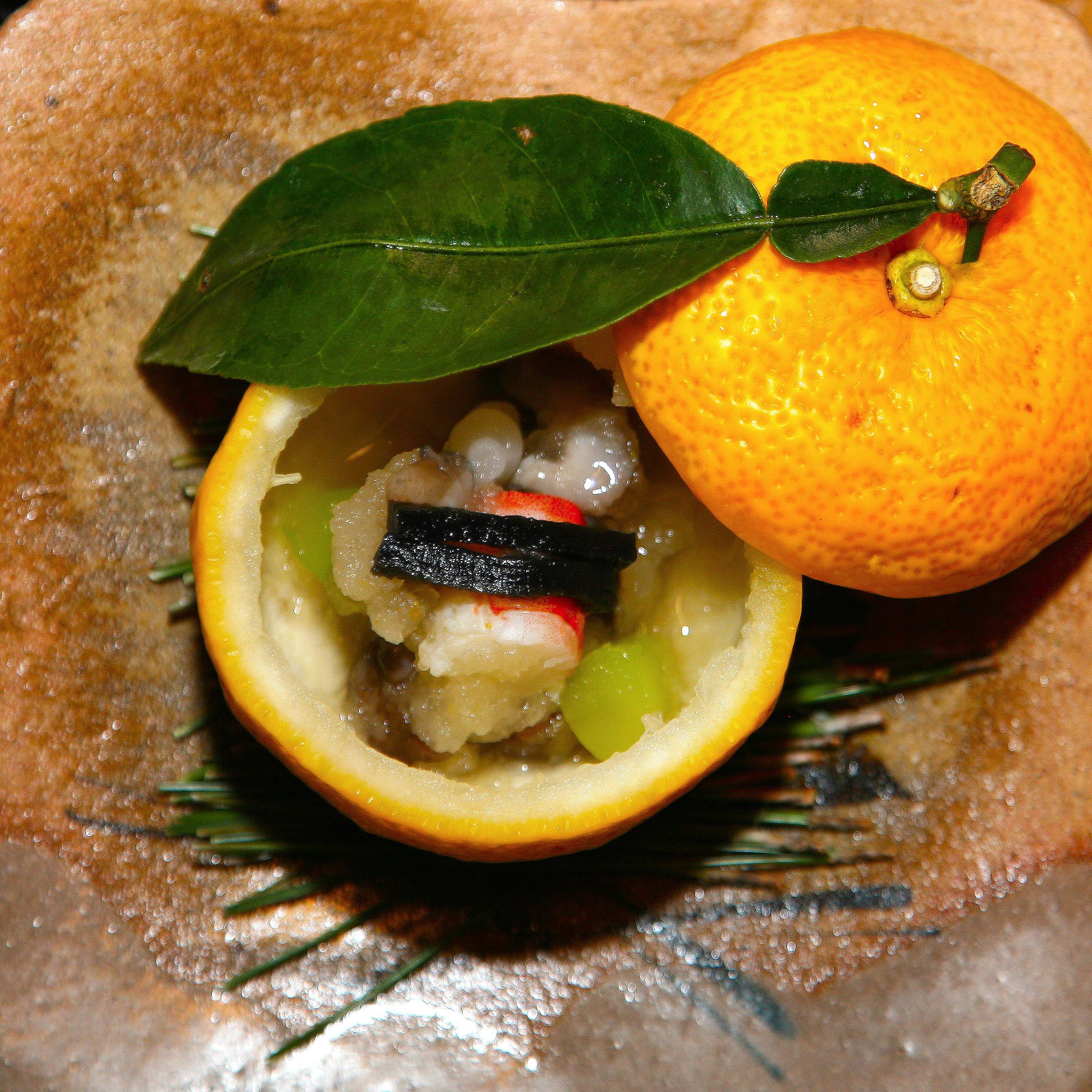 Takamura, Tokyo - Crab and octopus in citrus gelee