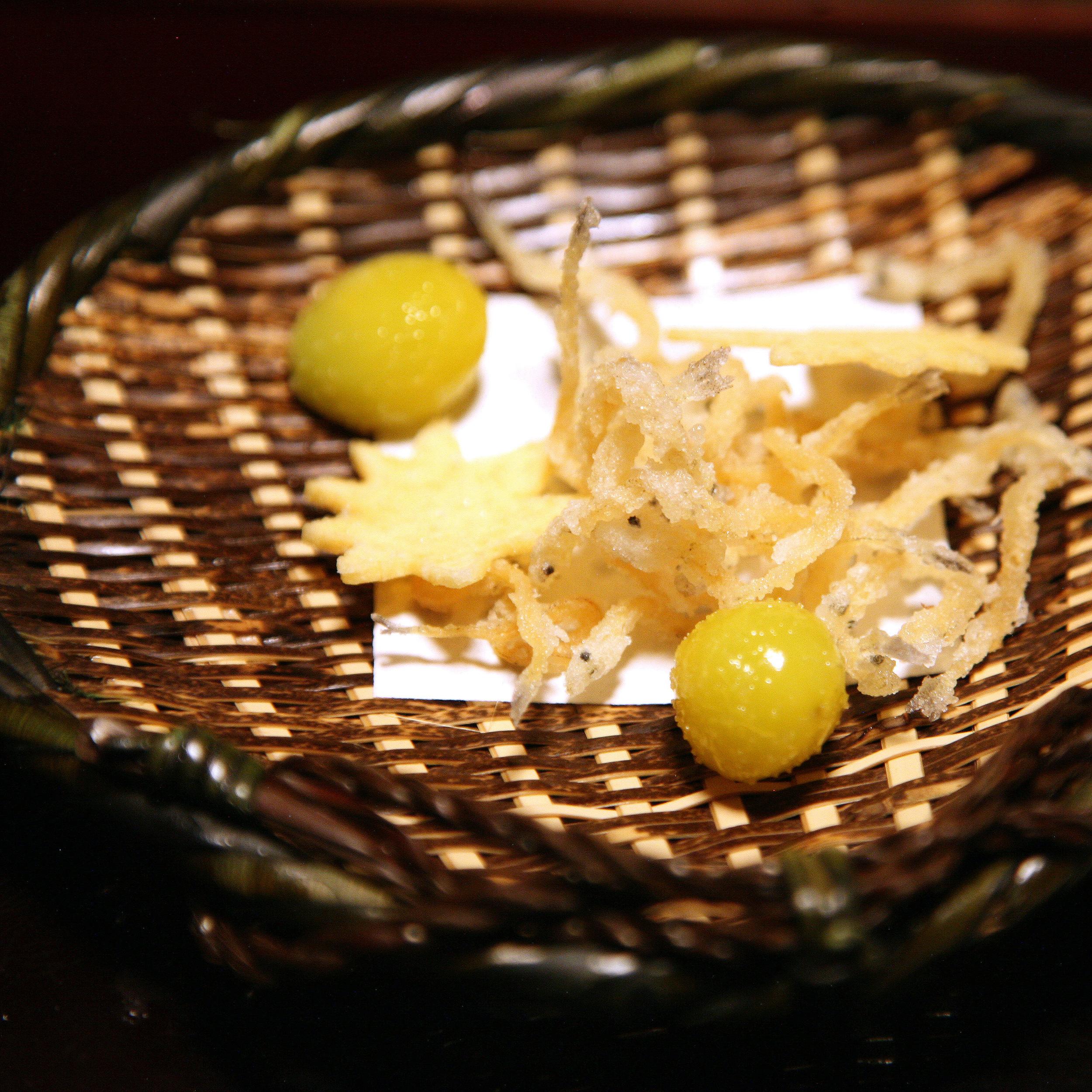 Takamura, Tokyo - Small fish with ginko nuts
