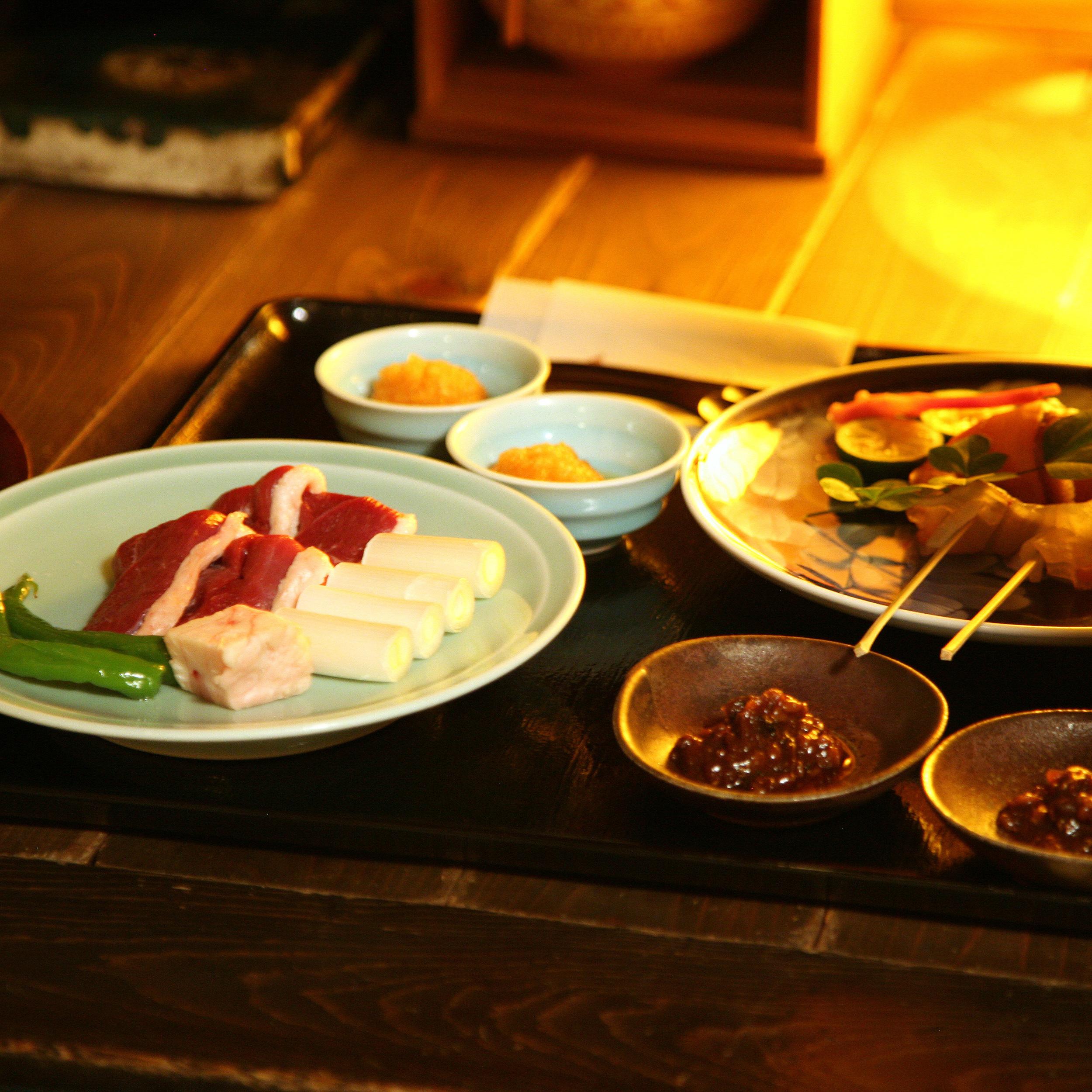 Takamura, Tokyo - Roasted duck and chicken in miso sauce