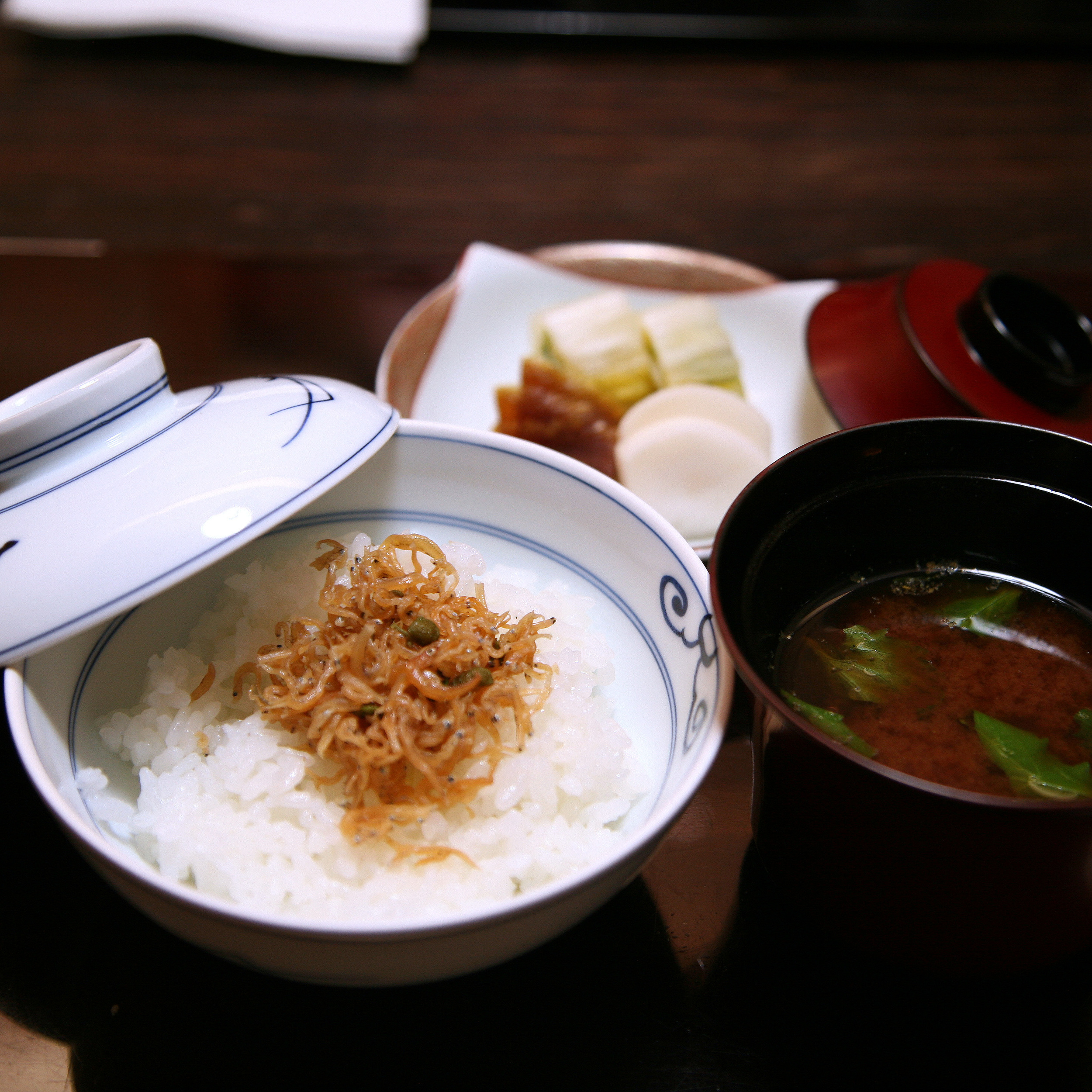 Takamura, Tokyo - Miso soup and rice