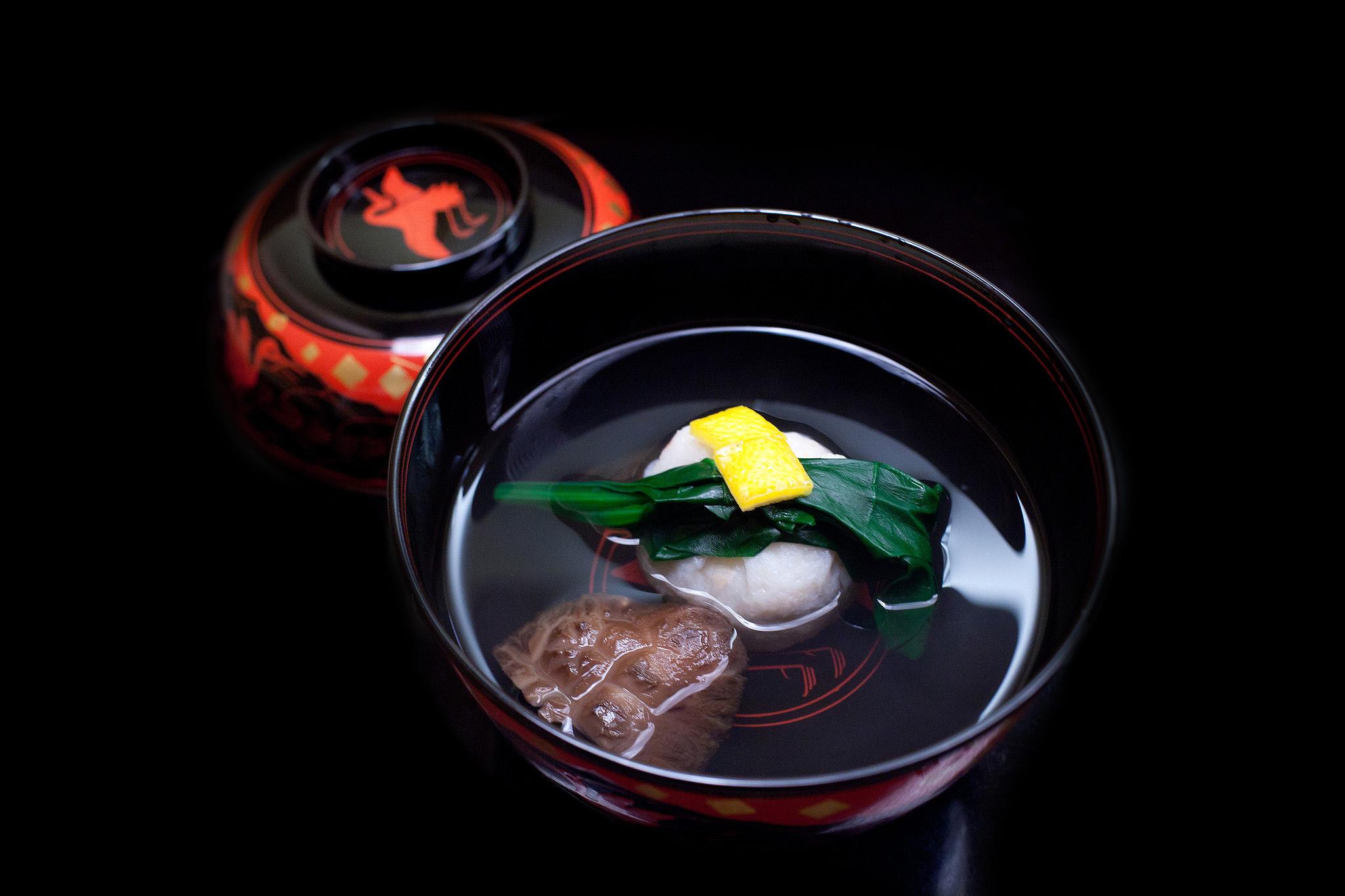 Chihana, Kyoto, Japan - Clear Broth Soup with Crab Ball