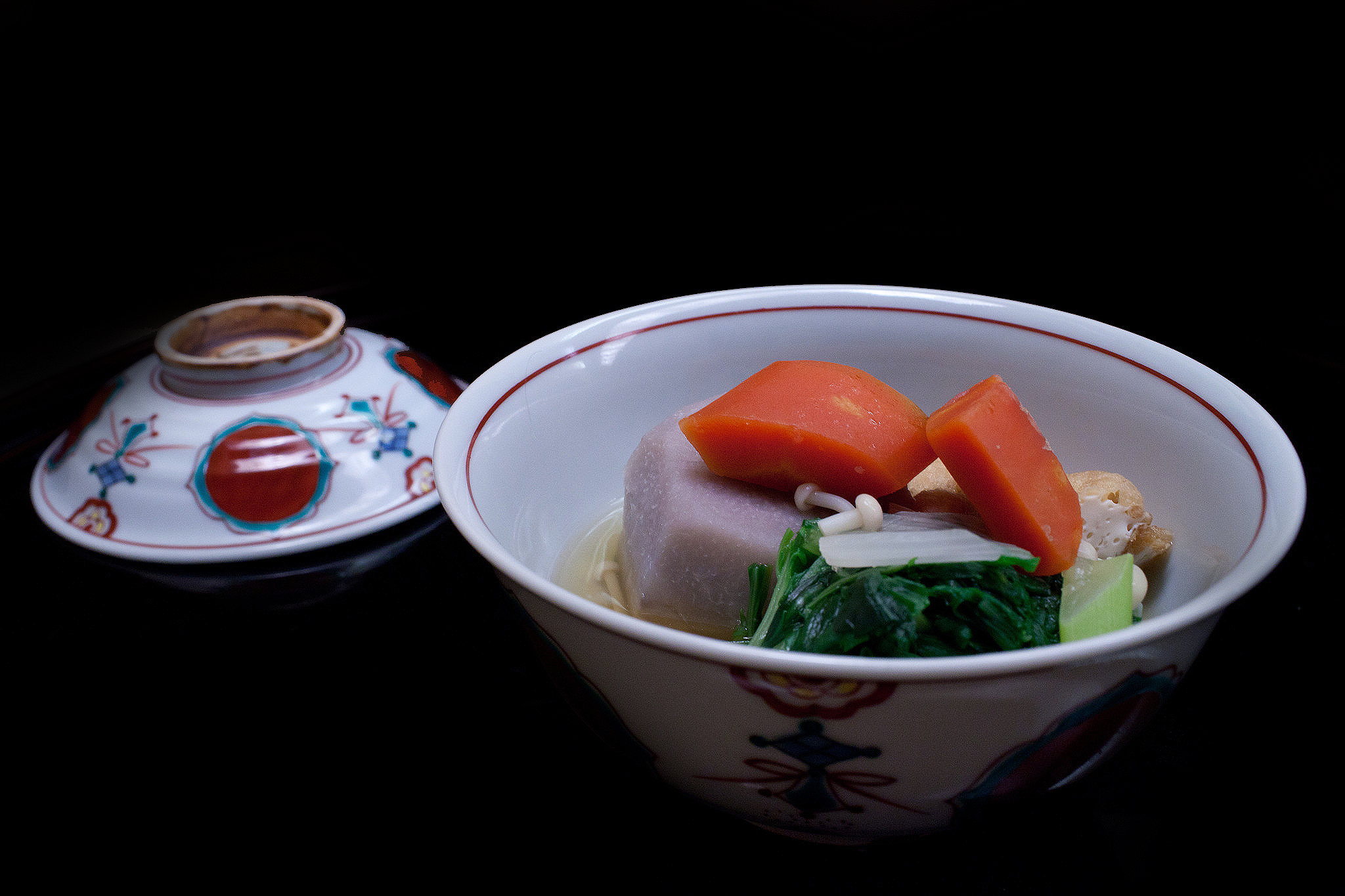 Chihana, Kyoto, Japan - Simmered taro root with Kyoto carrot