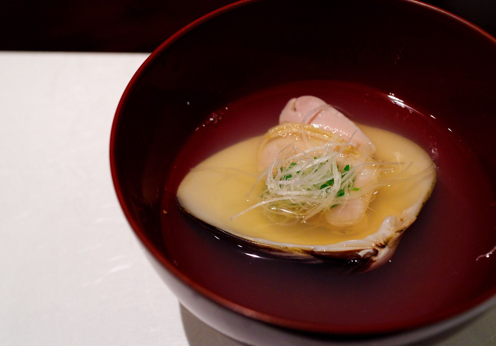Esaki, Tokyo - Japanese clear broth with hamaguri (hard clam)