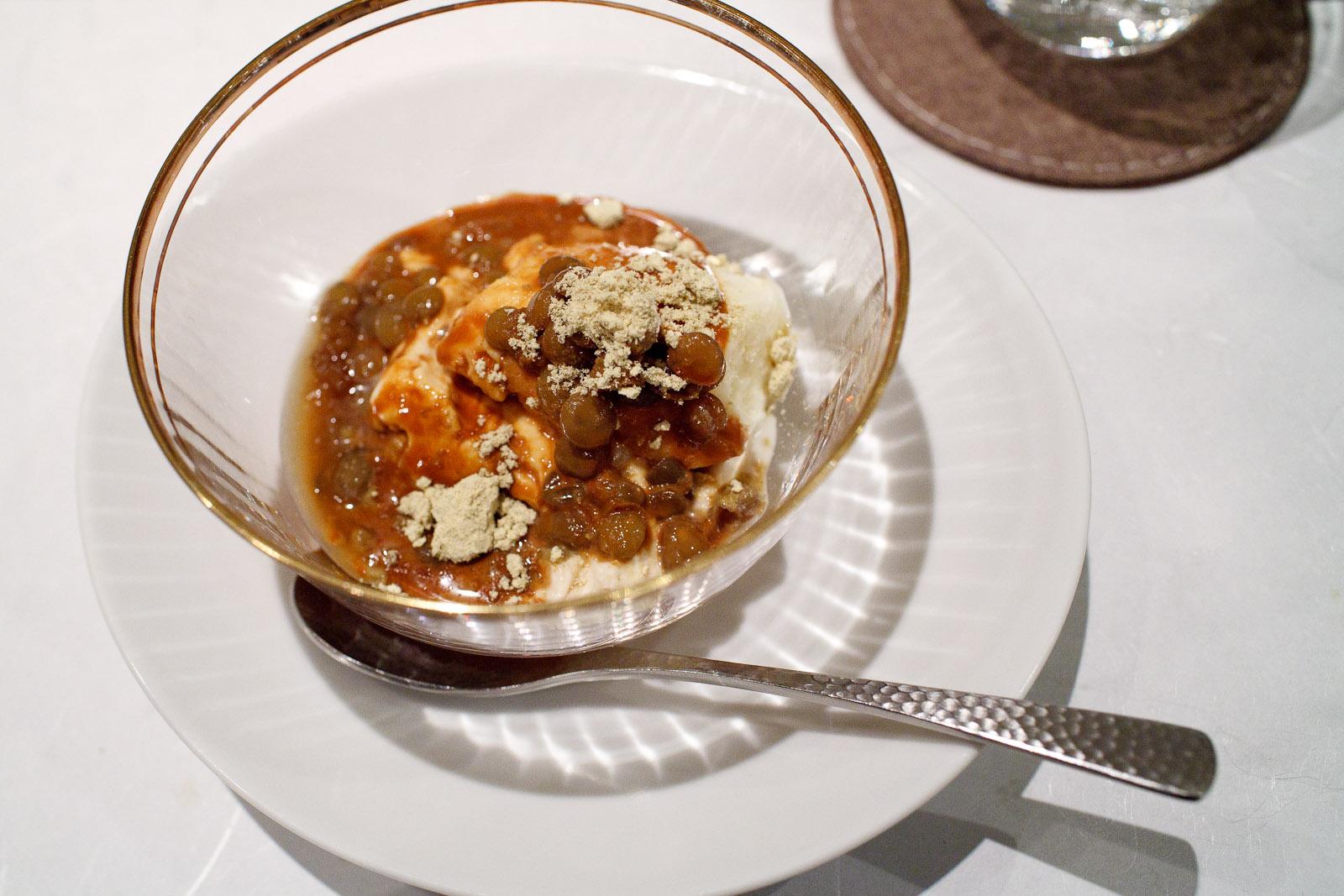 Esaki, Tokyo - Milk pudding, ginger ice cream, soybeans