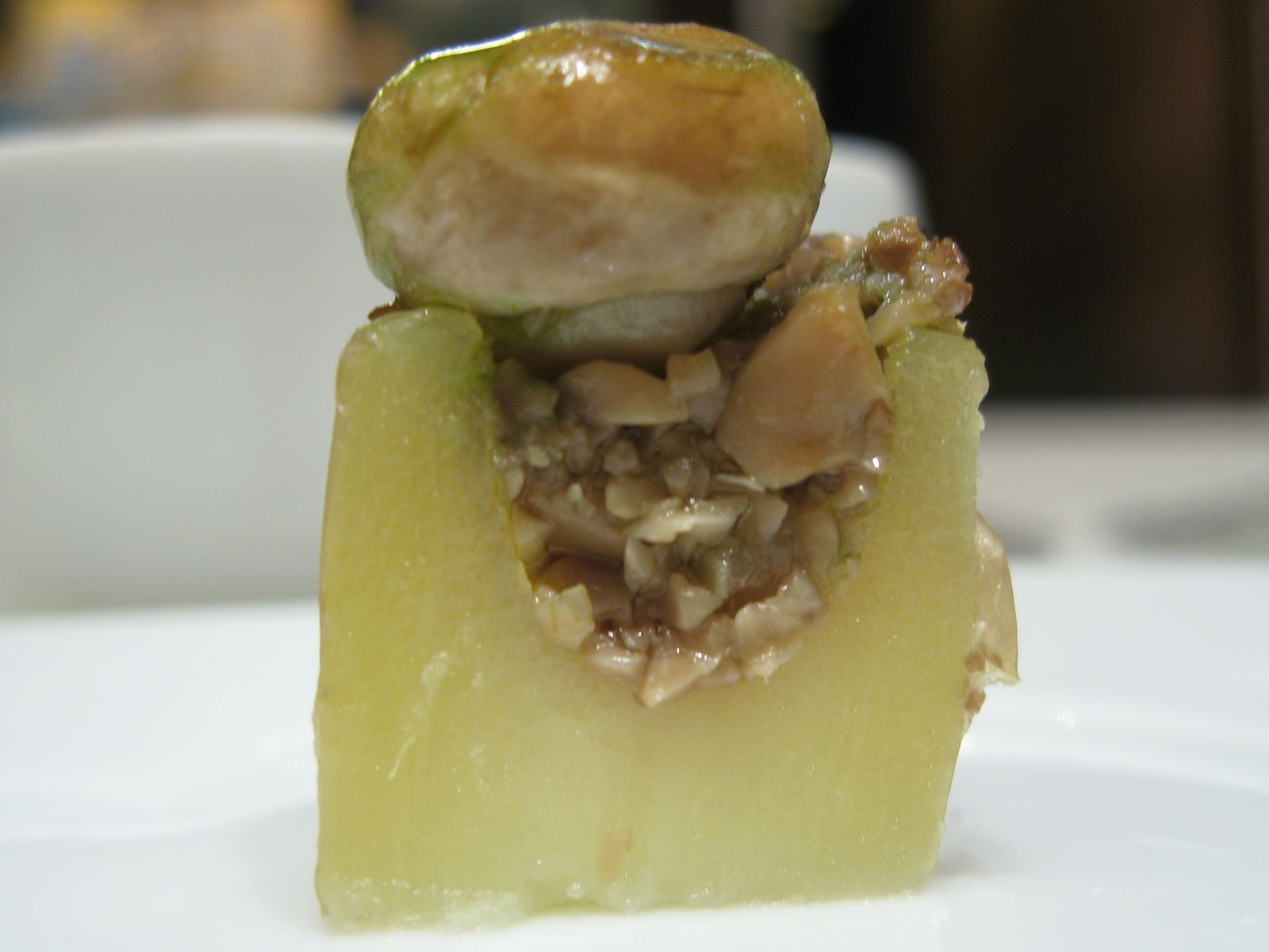 Amuse Bouche - Potato, Chanterelles, Caramelized Onion
