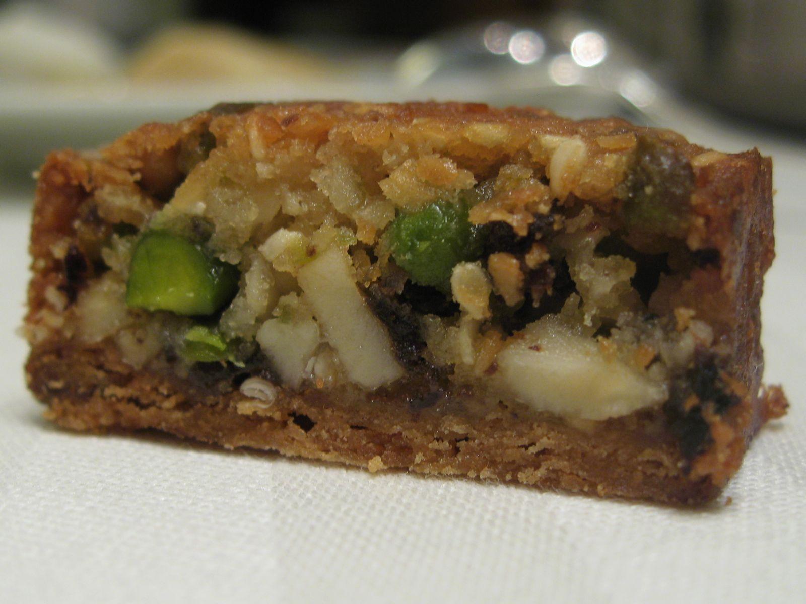 Biscuit à la pistache, amande, et raisin