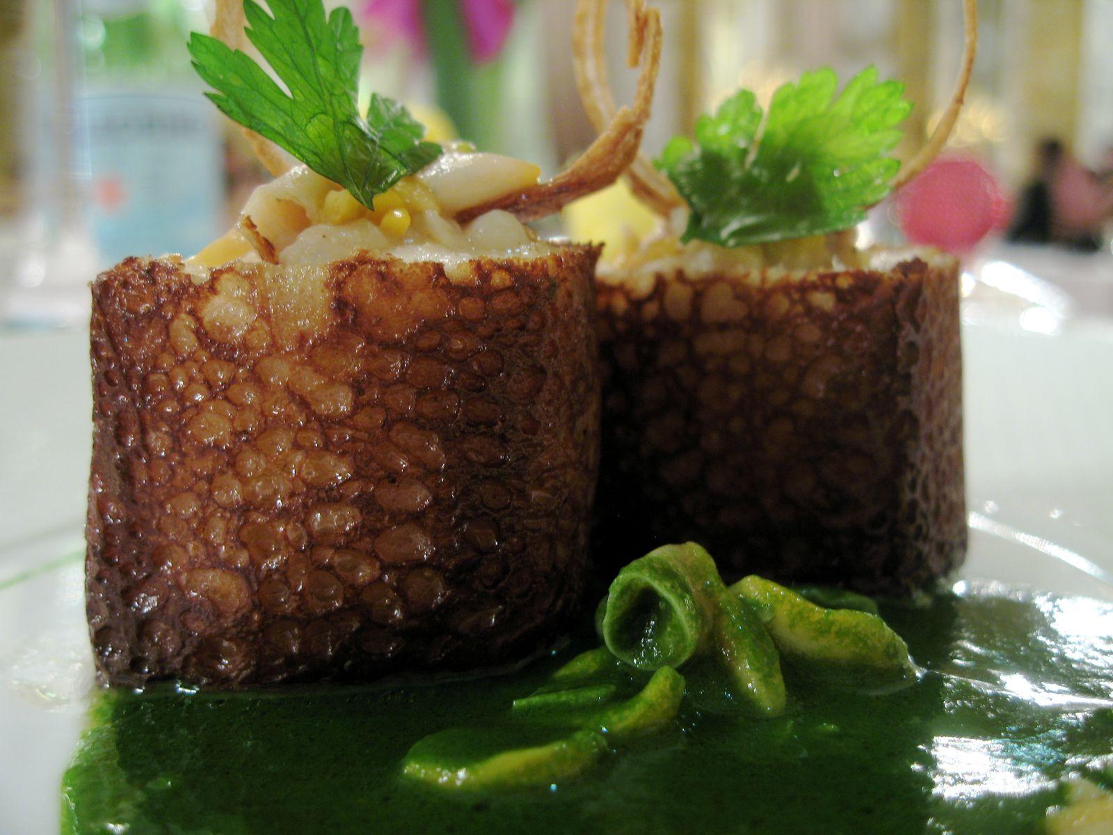 Turbot, galette de Bretagne, coquillages au vert