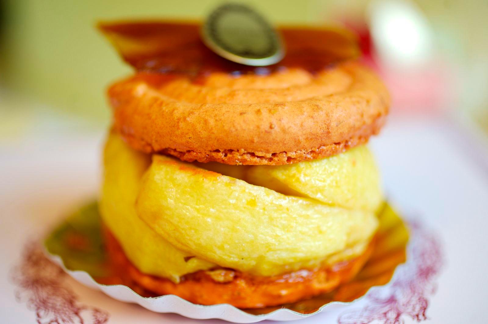 Macaron Pommes Caramel