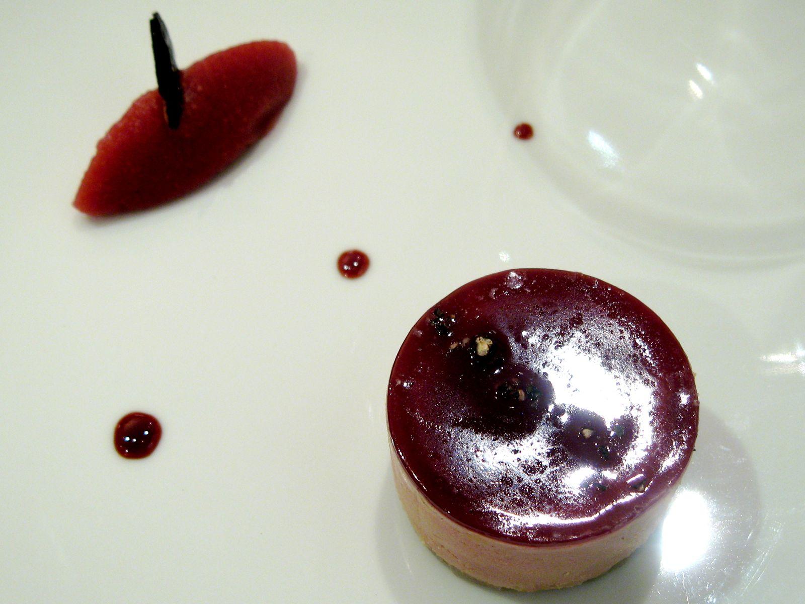 Parfait de foie gras de canard, marmelade de coing