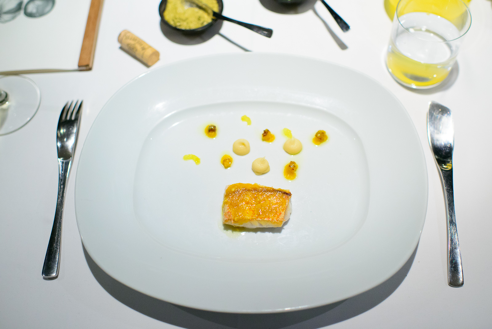 6th Course: Huachinango frito, mojo de jengibre y chile habanero