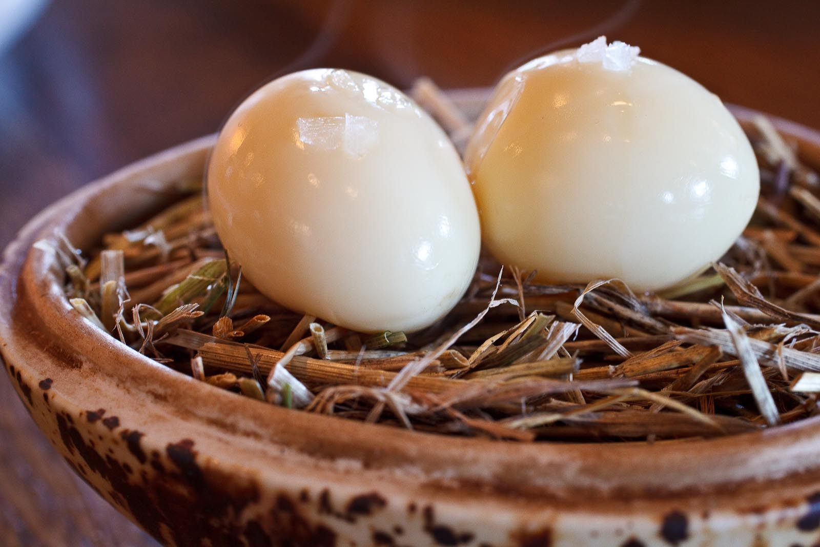 Noma - Amuse bouche - Smoked quail egg