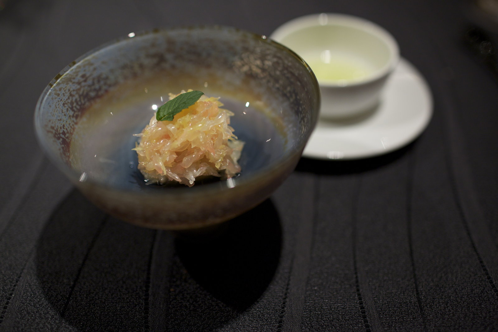 RyuGin - Fresh pear compote in Gewurtztraminer aroma and three citrus in maple syrup