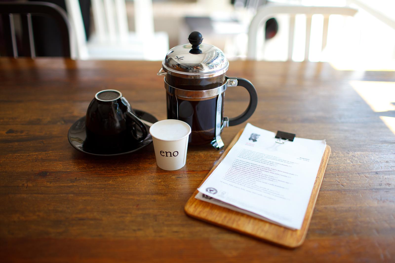 Café en prensa francesa de Oaxaca (French-pressed coffee from Oaxaca)