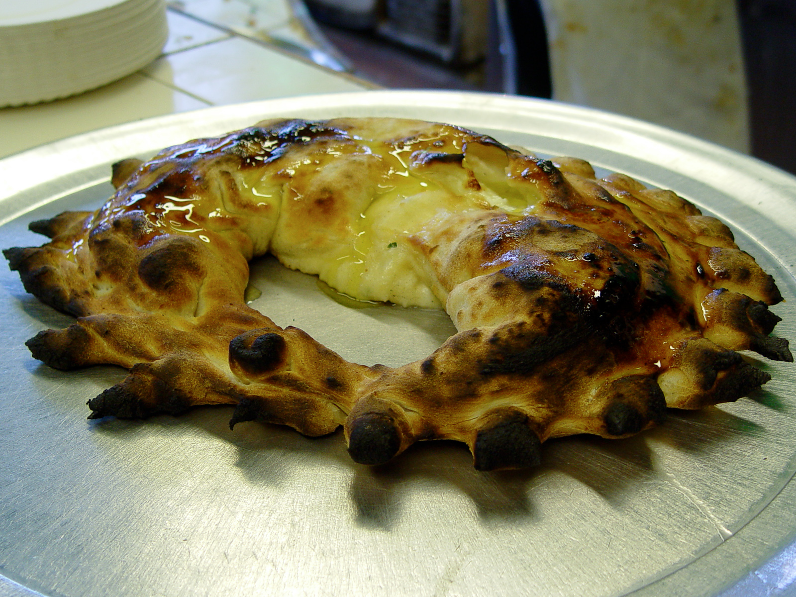 Di Fara - Cheese Calzone Out of the Oven
