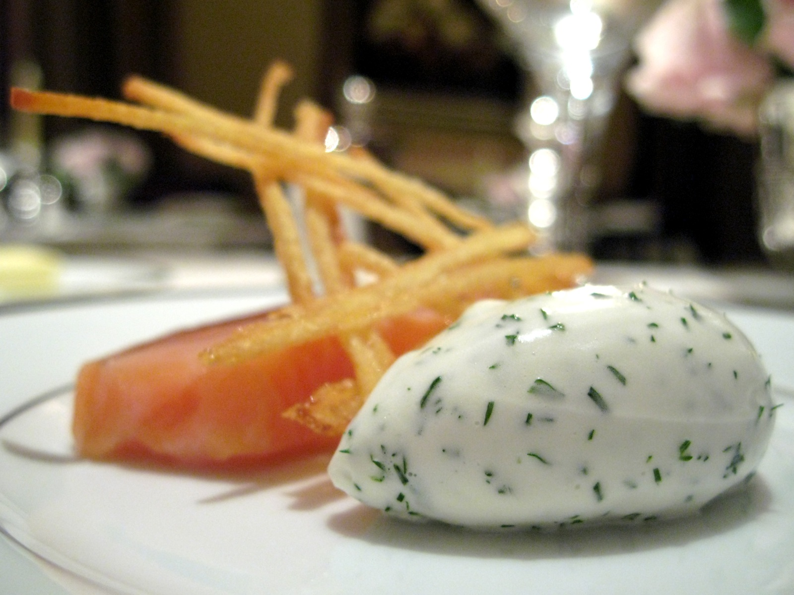 Lightly Smoked Salmon with Dill Cream