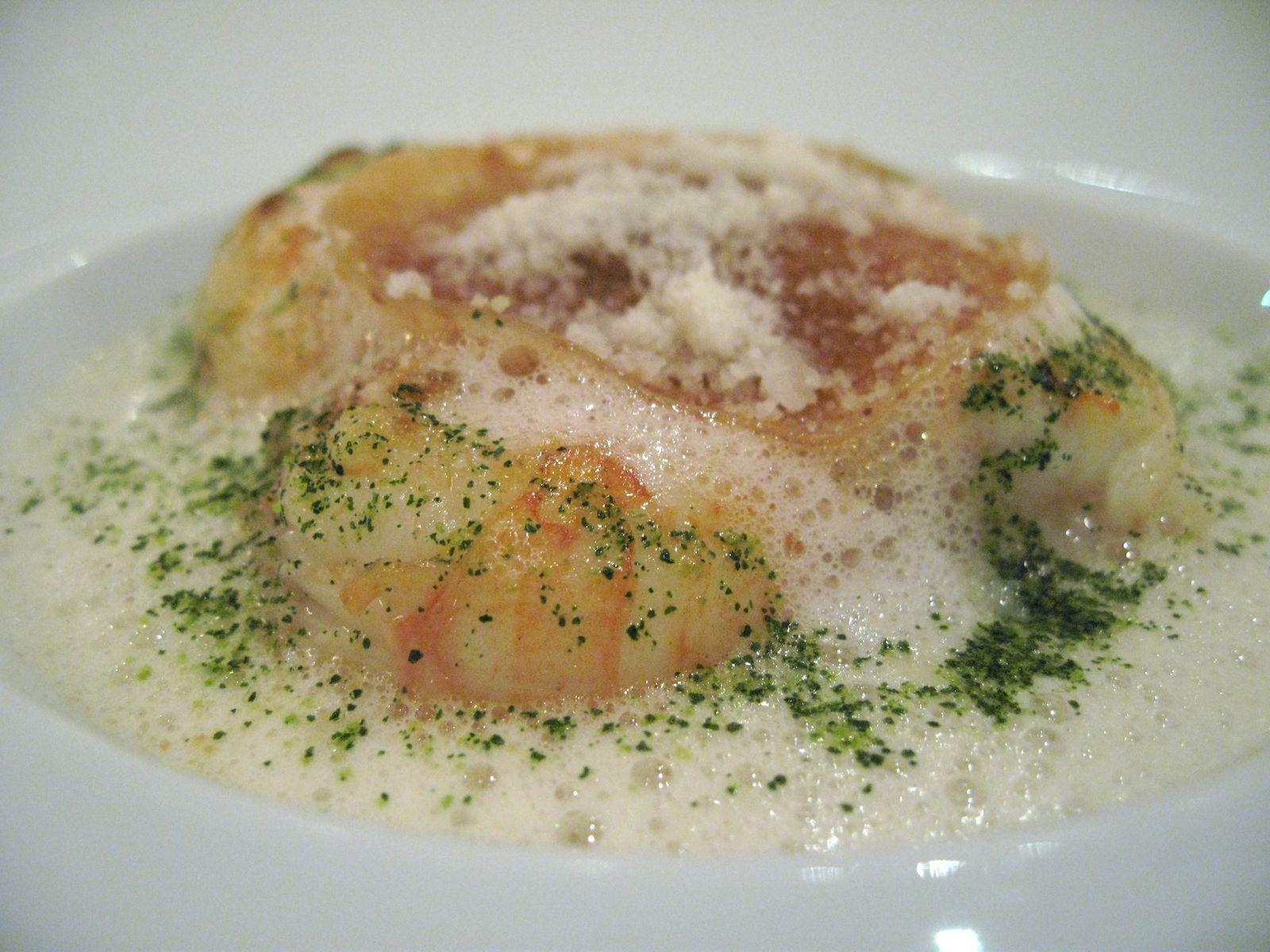 Fricassée de langoustine bretonnes, lasagne au vieux parmasean