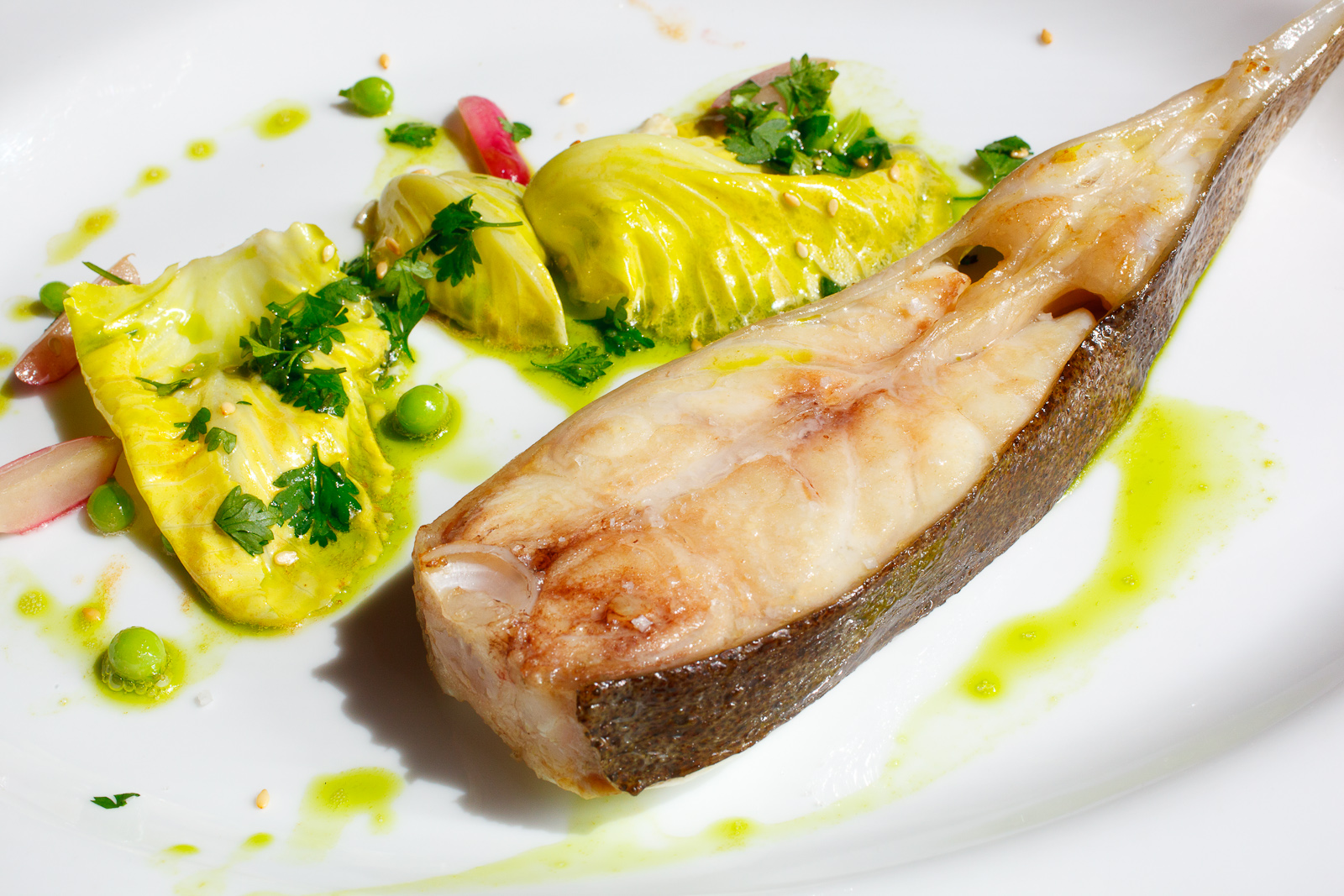 Pêche côtière estampillée pointe de Bretange; Turbot