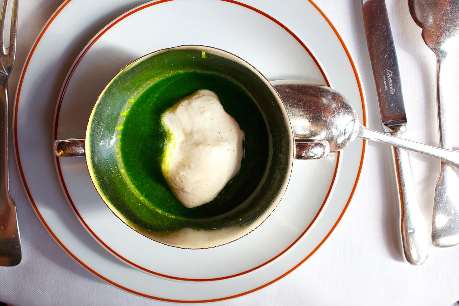 Lettuce velouté with Moutarde d'Orléans