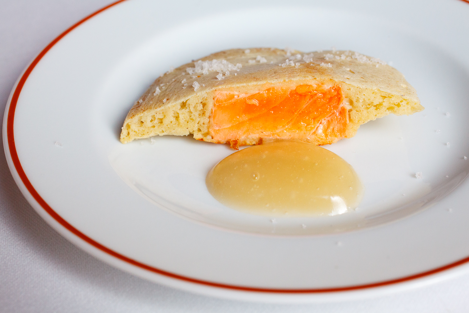 Salmon with honey butter