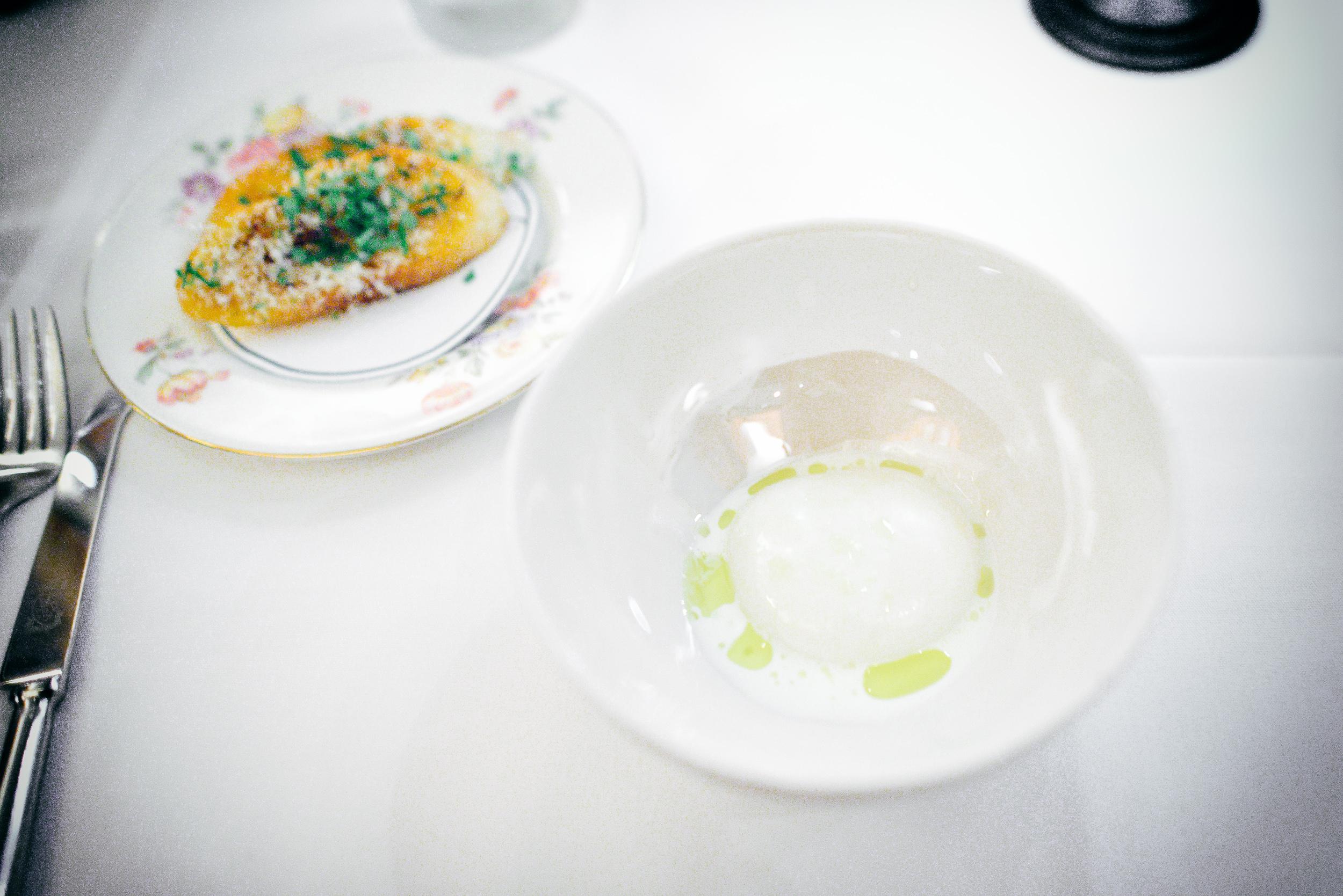 1st Course: Mozzarella with davero olive oil