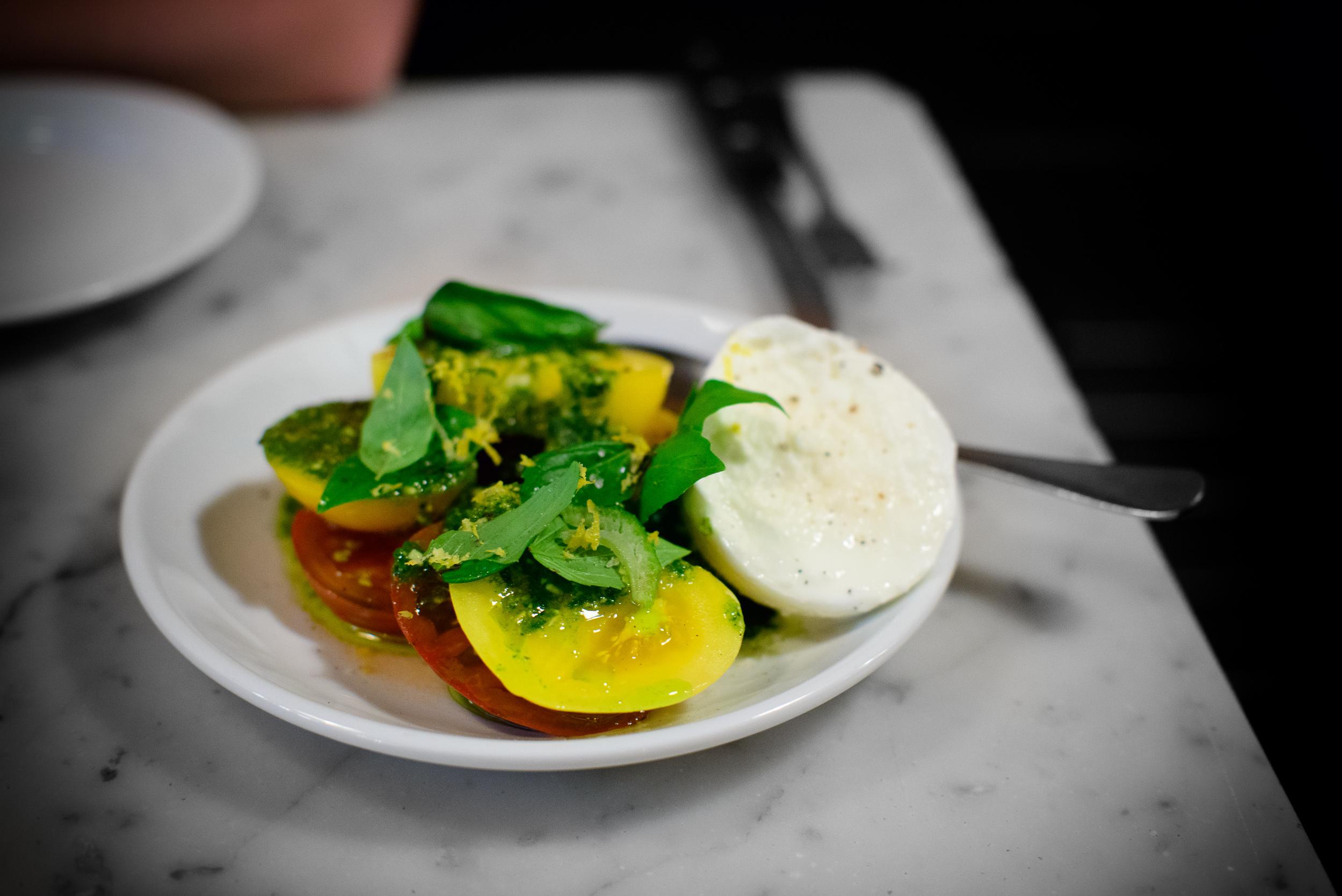 Seasonal caprese salad