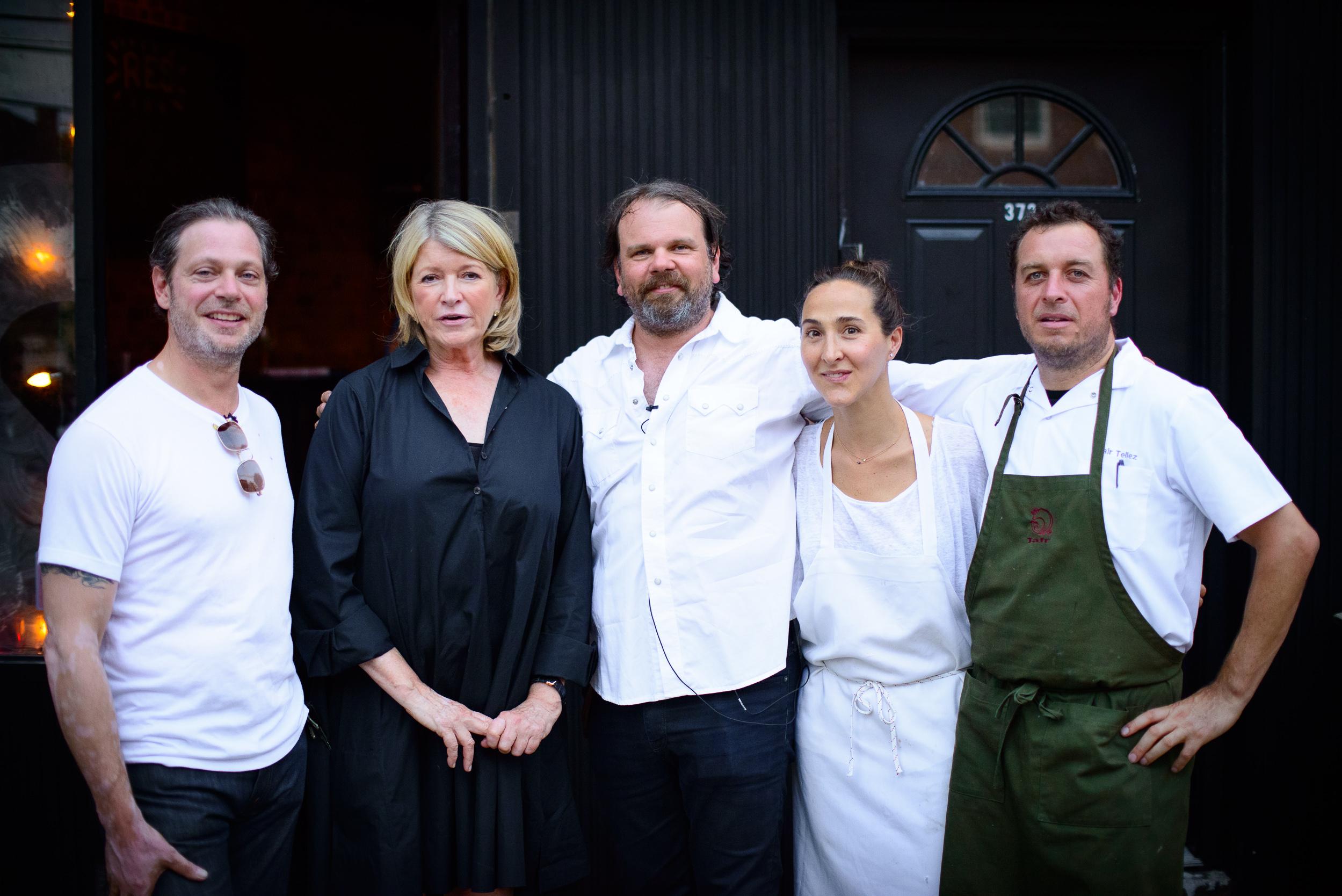 Frank Falcinelli, Martha Stewart, Frank Castronovo, Gabriela Cá