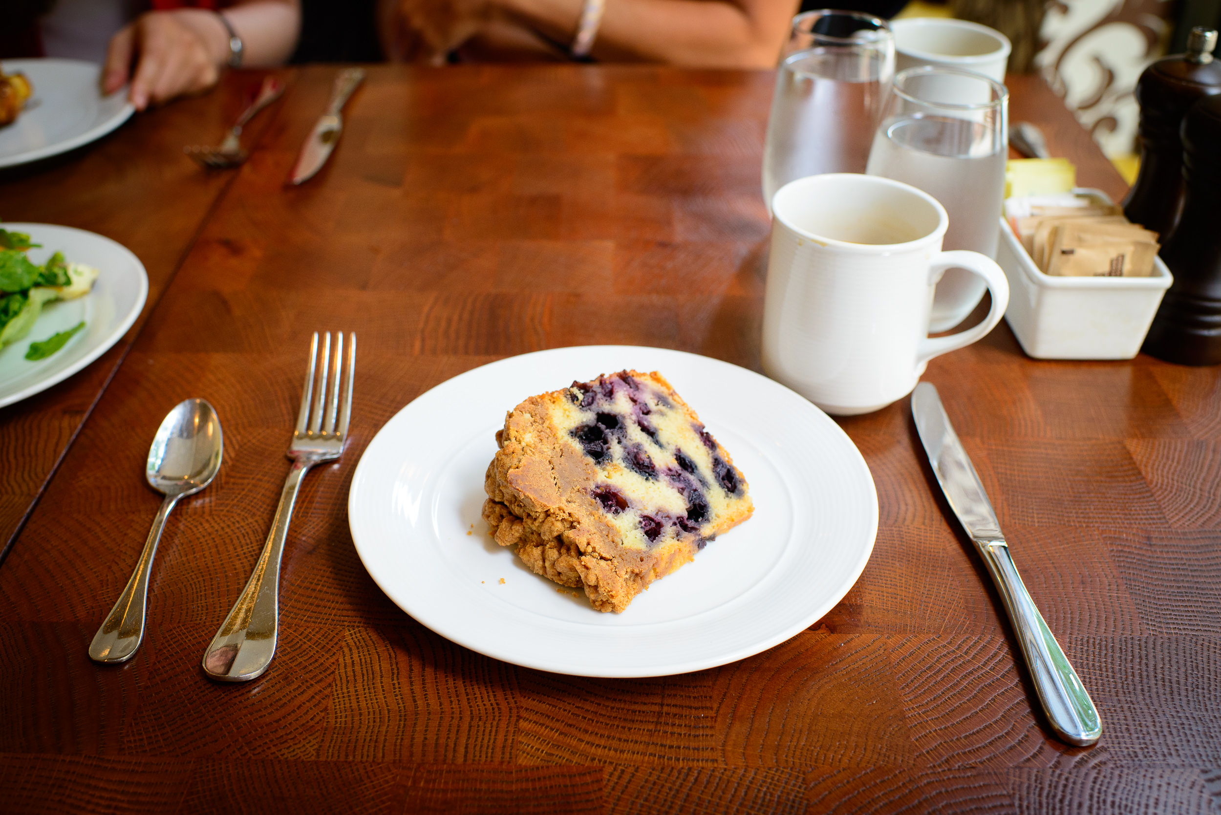 Blueberry coffee cake ($3)