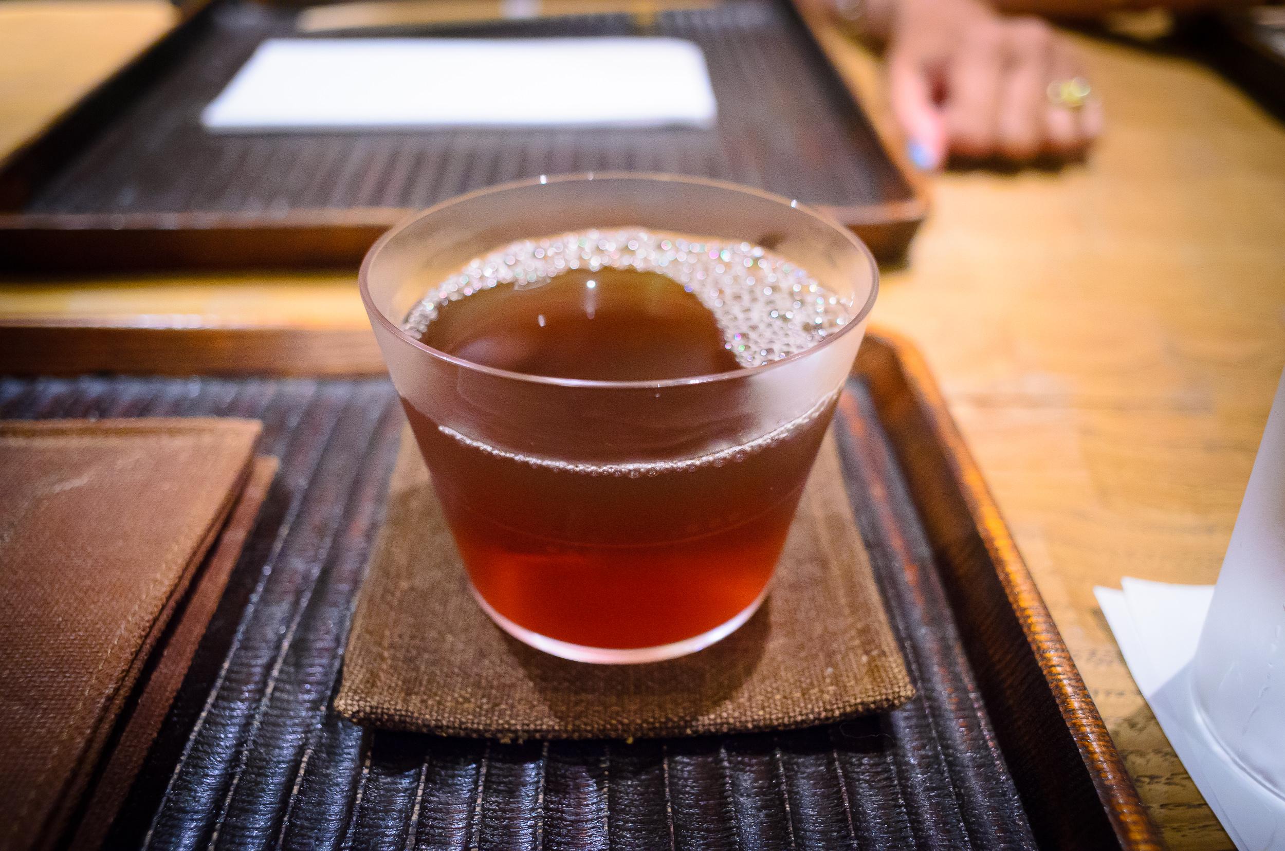 Chilled soba tea