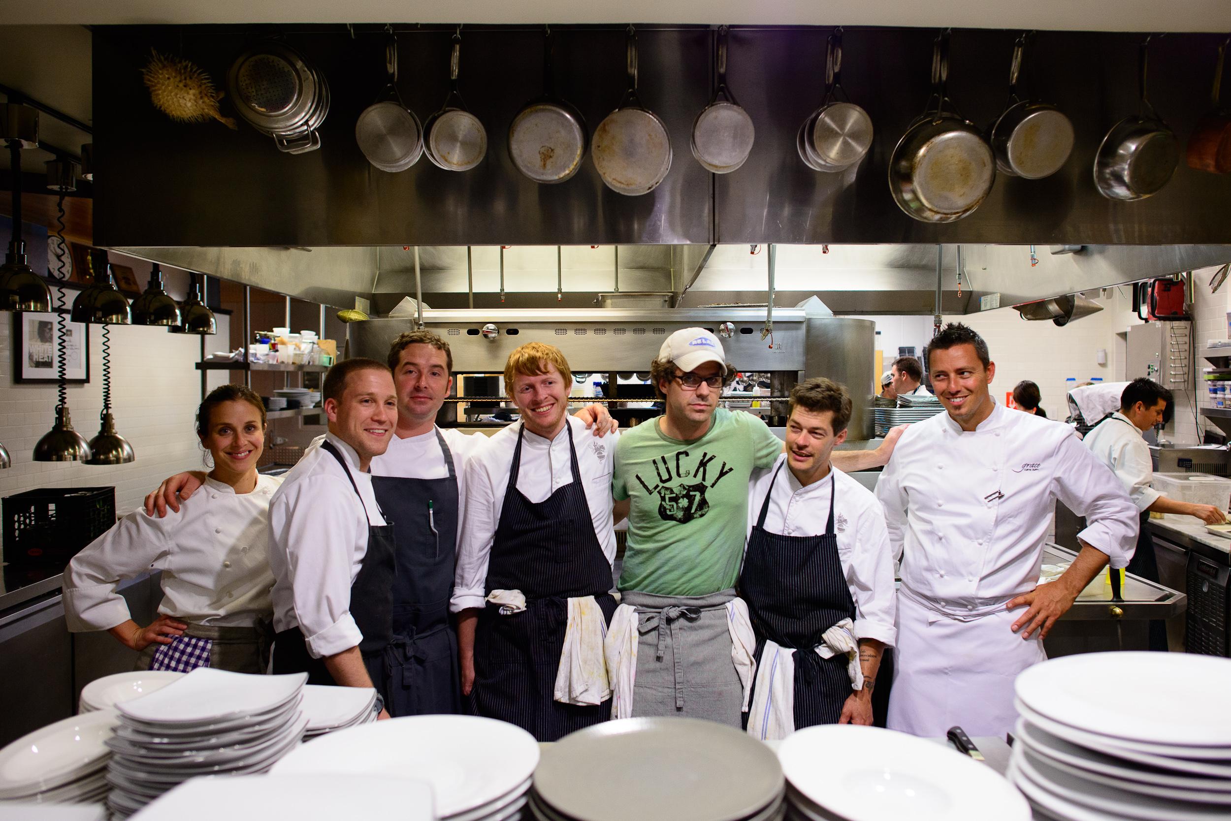 Chefs Karen and John Shields, Johnny Spero, Michael Ryan, Alex T