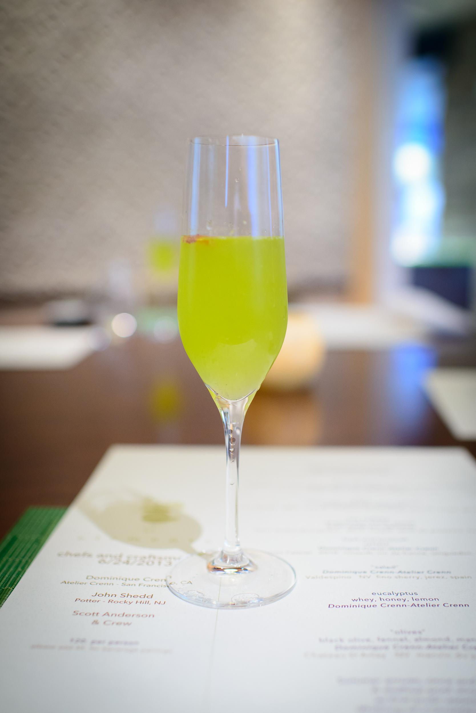 Snack 4: Farmer's gin, orange juice, orange bitters