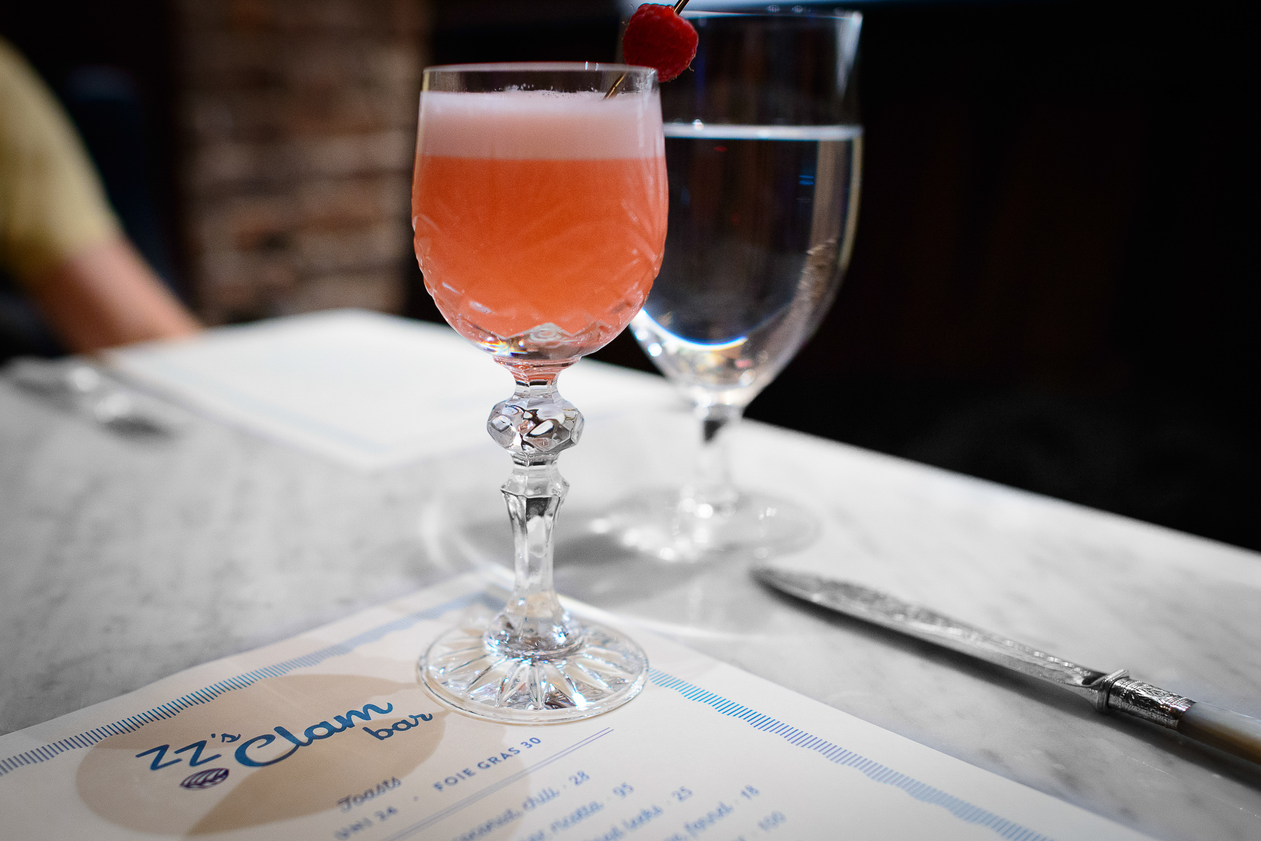 Strawberry: dry gin, rosemary vermouth, kalamansi