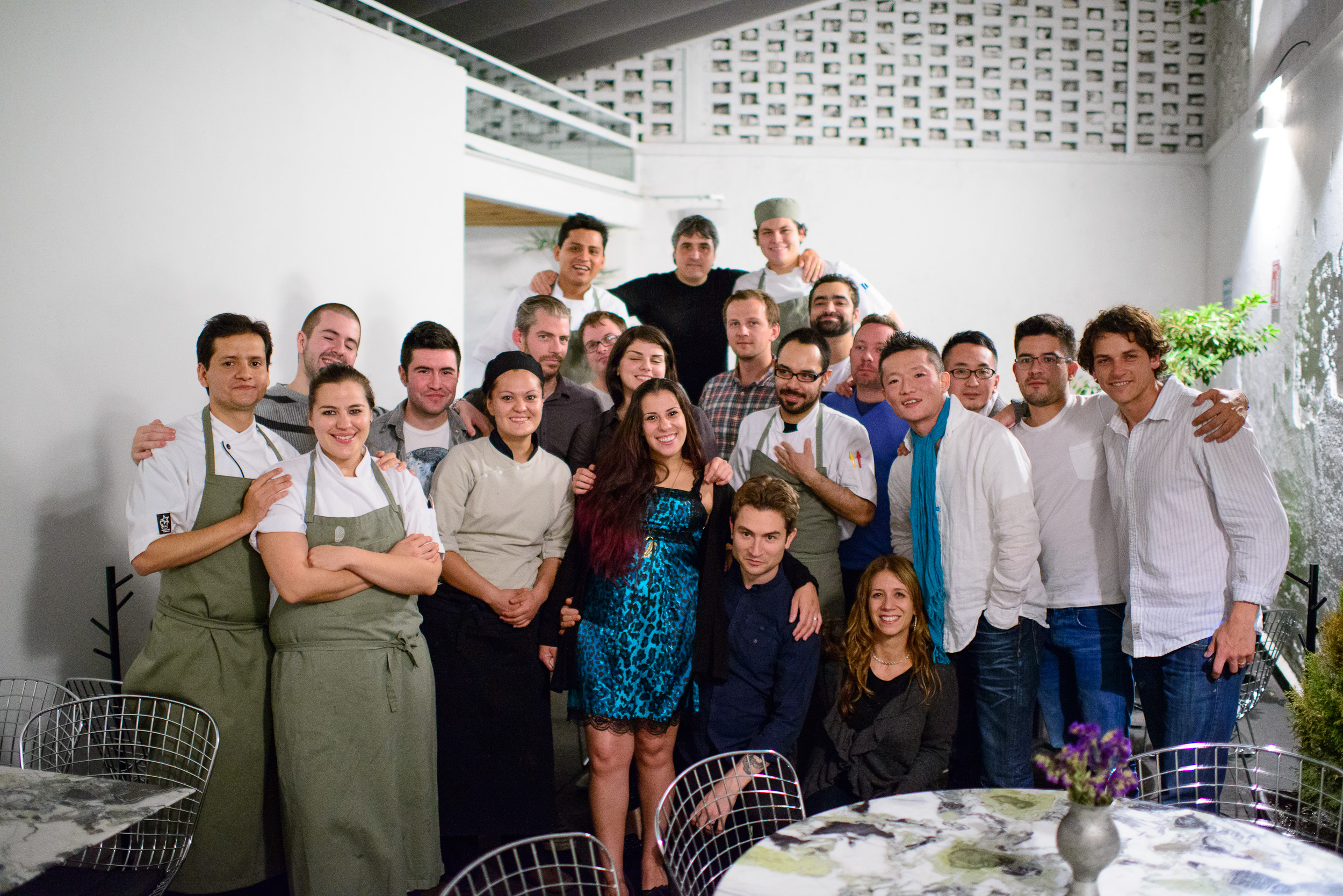 Staff of Quintonil with visiting chefs for Mesamerica 2012