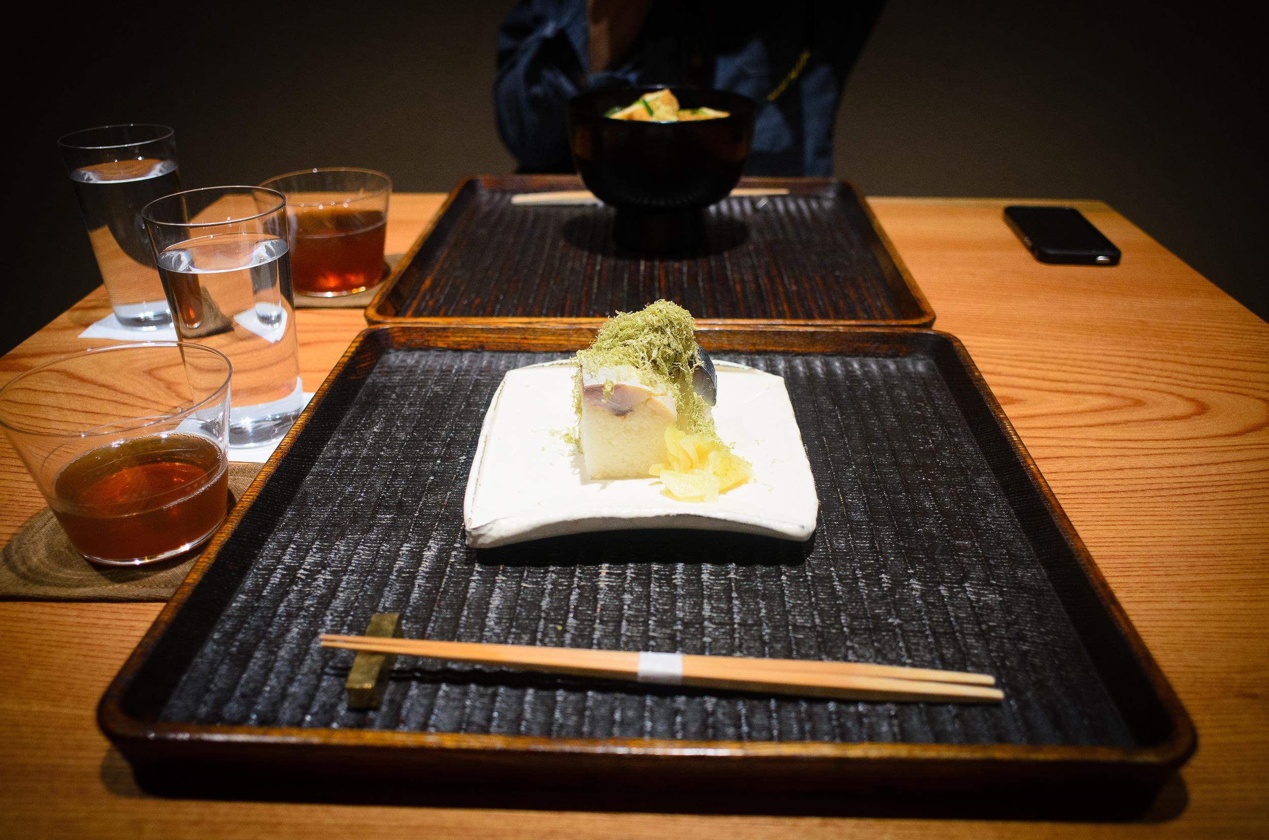 Saba (mackerel) sushi