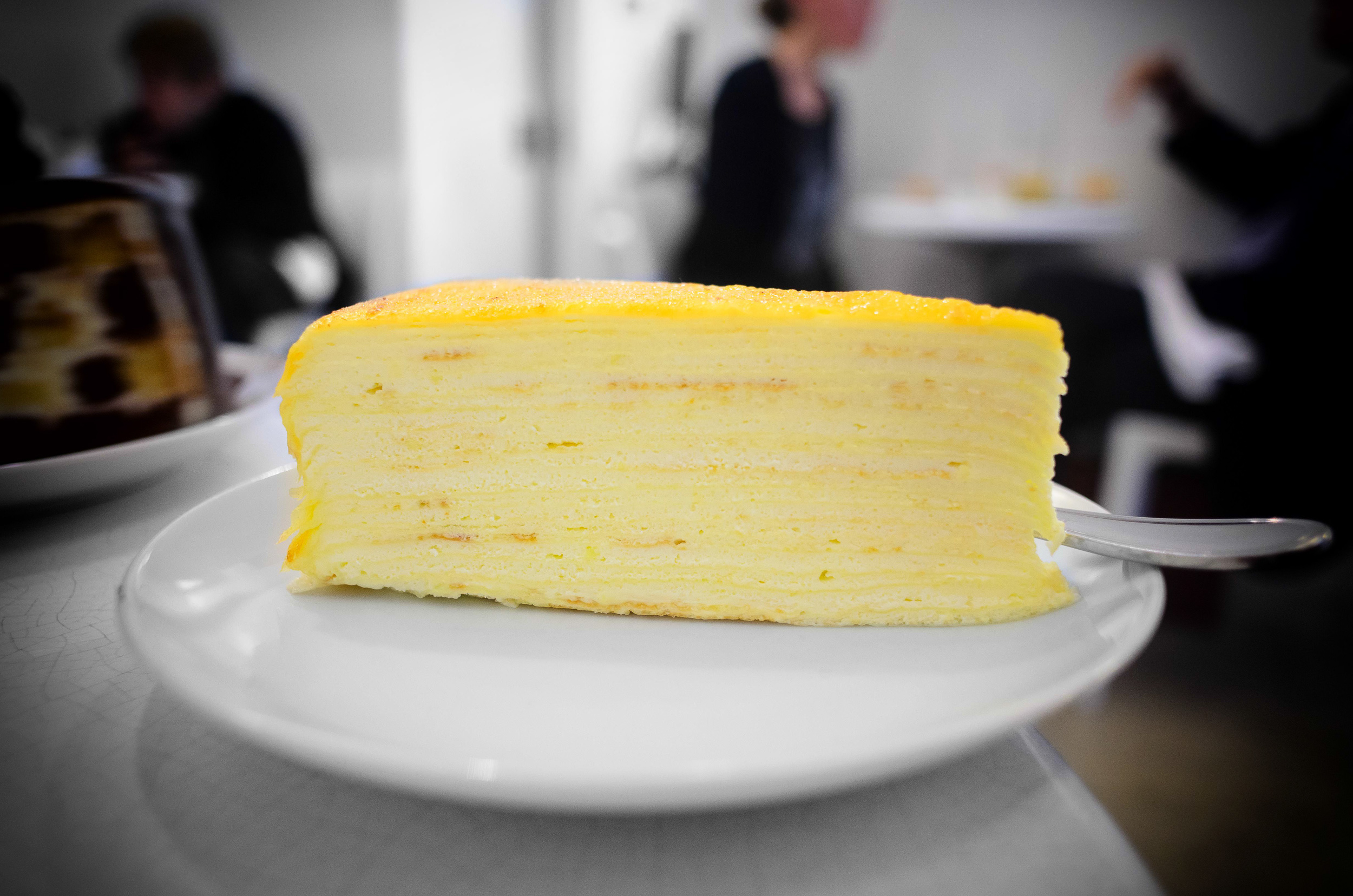 Mille crêpe (over twenty paper-thin crêpes layered with pastry