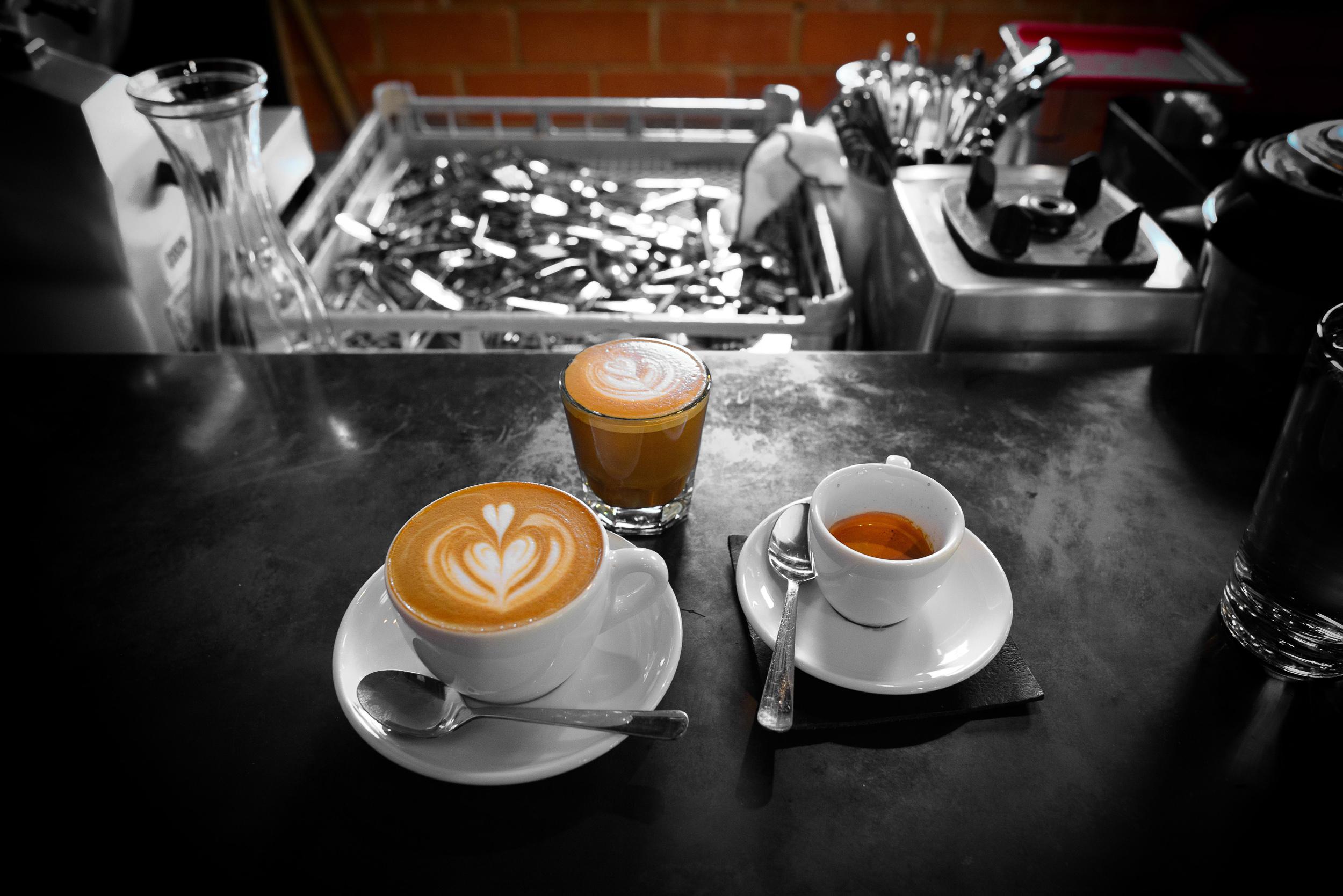 Cappuccino and macchiato with Greenway's Papua New Guinea blend;