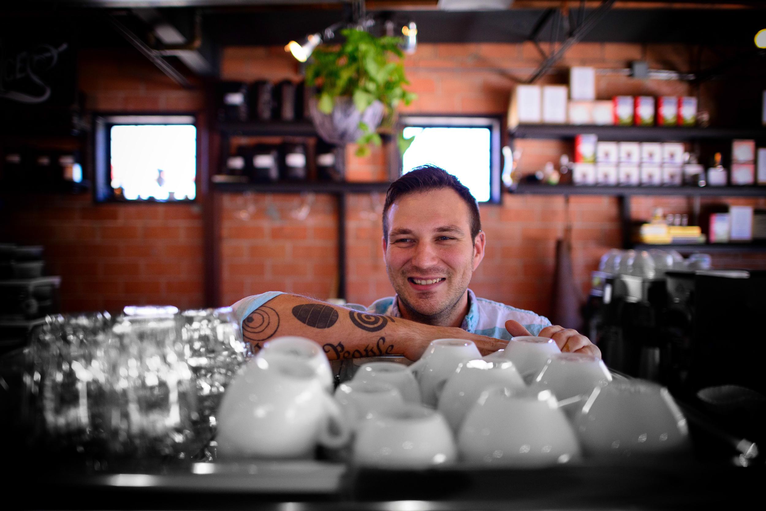 David Buehrer, co-owner / barista Blacksmith Coffee Bar, Houston
