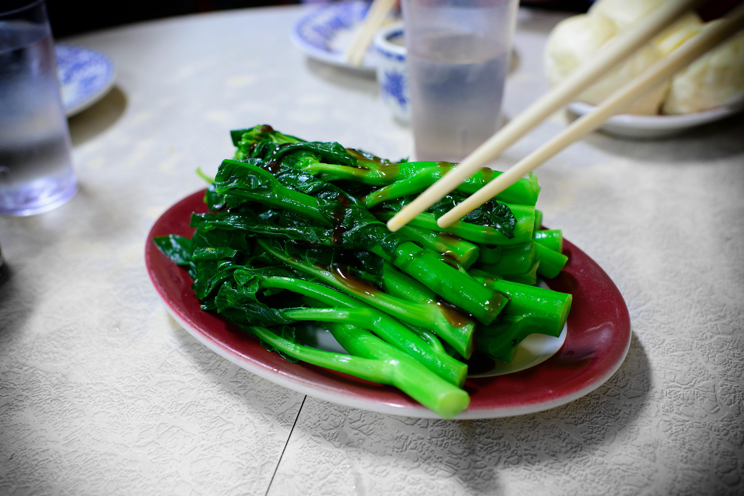 Chinese broccoli in oyster sauce ($7.95)
