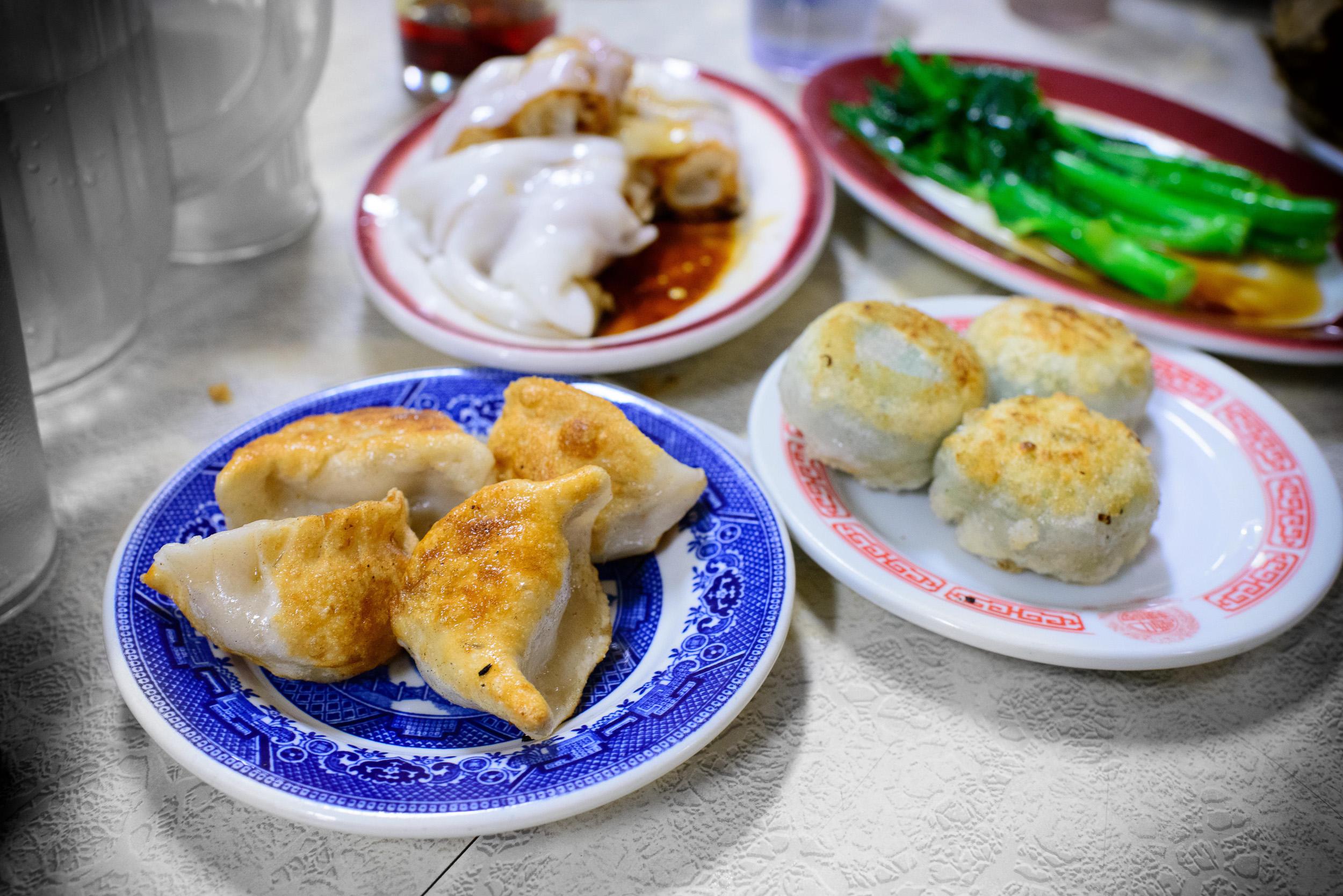 Pan fried dumplings ($3.50)