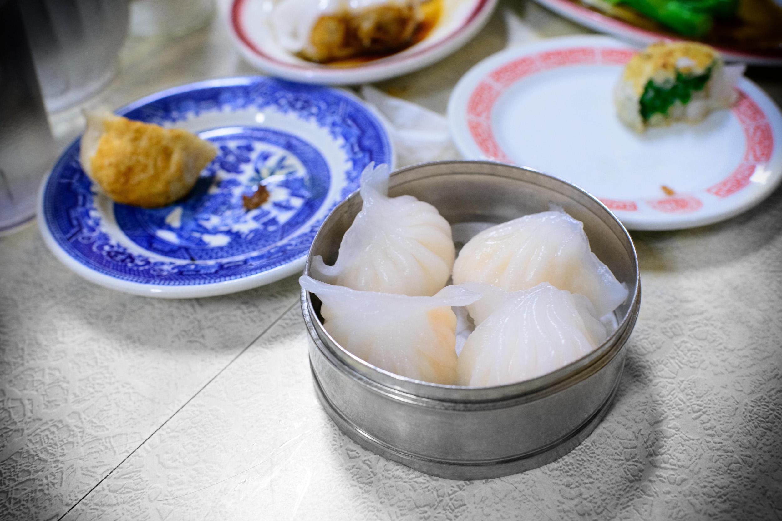 Shrimp dumplings ($3.75)