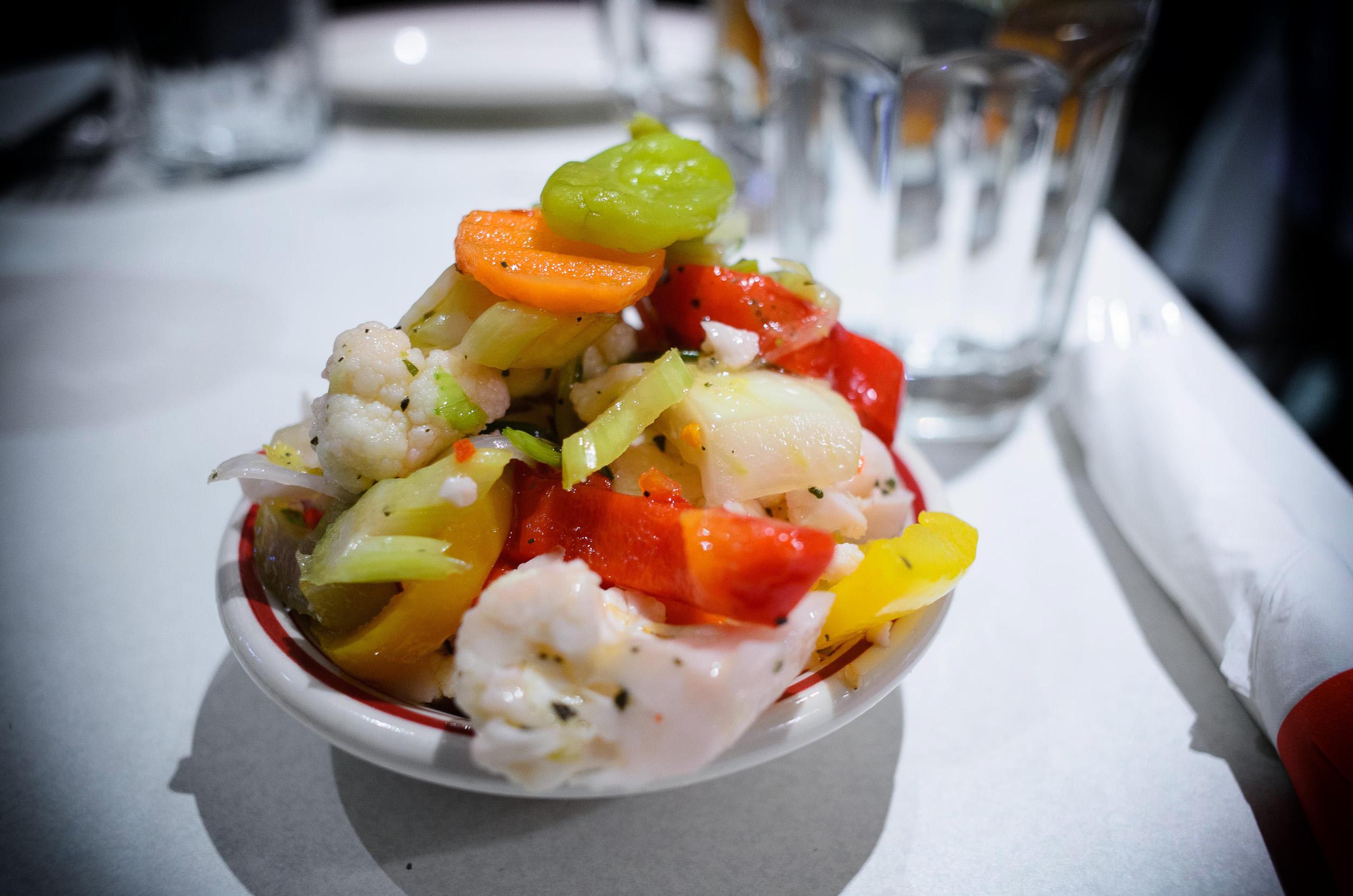Pickled vegetables ($6)