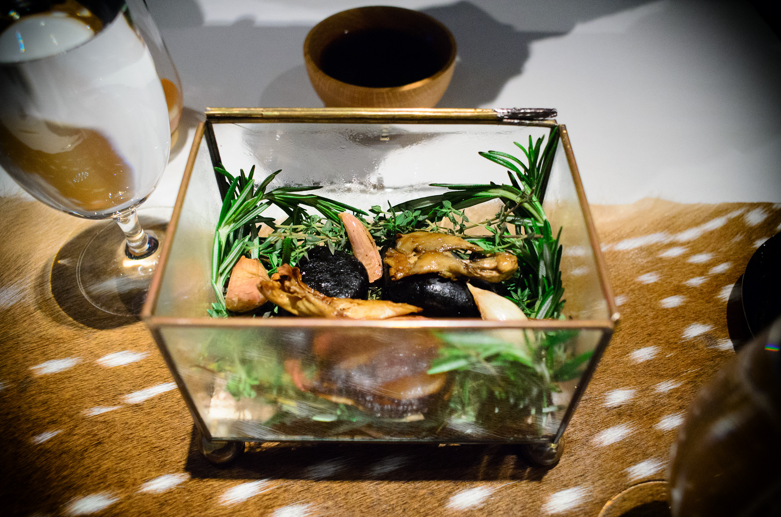 2nd Course: Hen of the Woods, inside the box