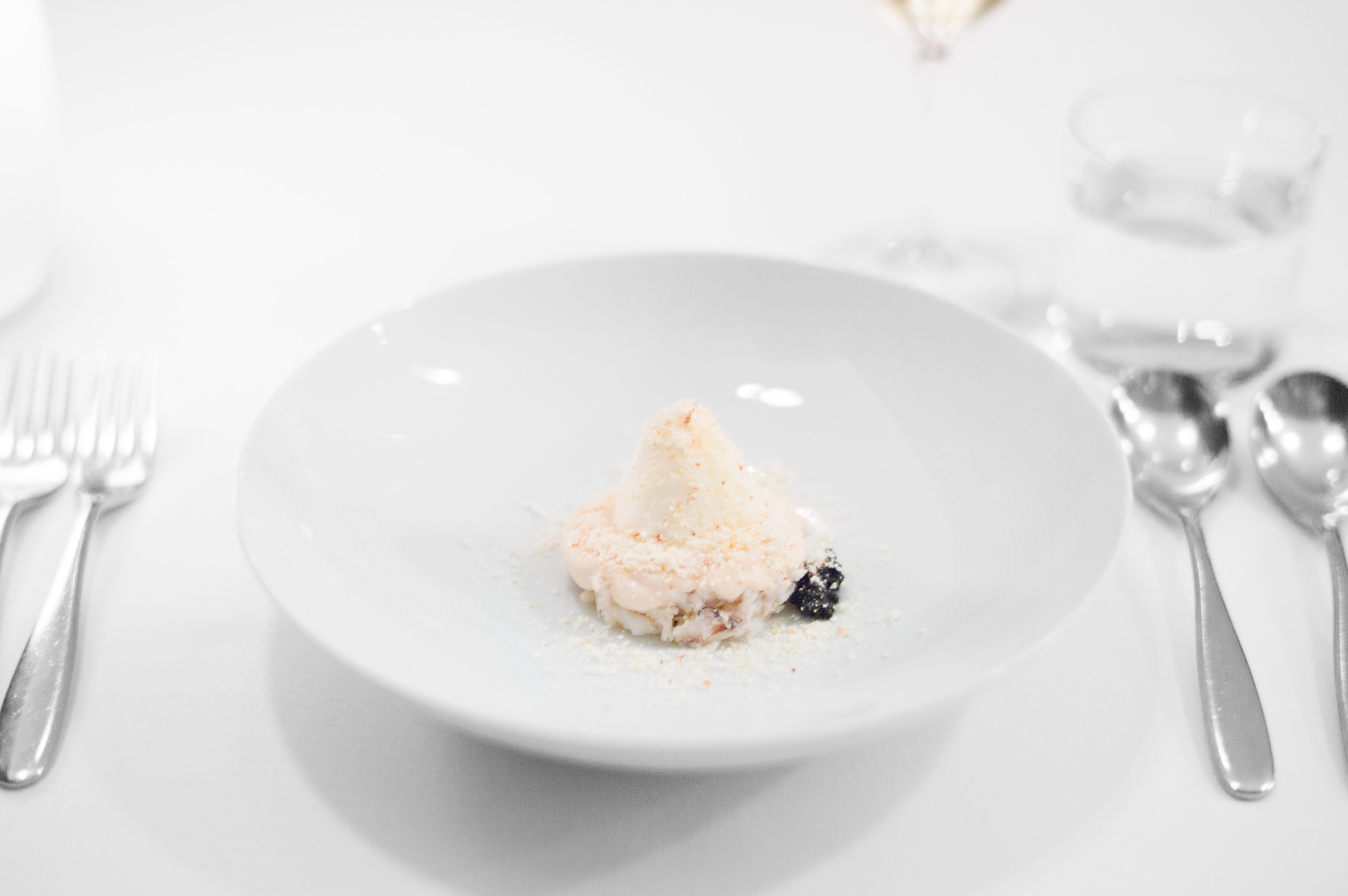 2nd Course: Blue swimmer crab with almond gazpacho, almond jelly