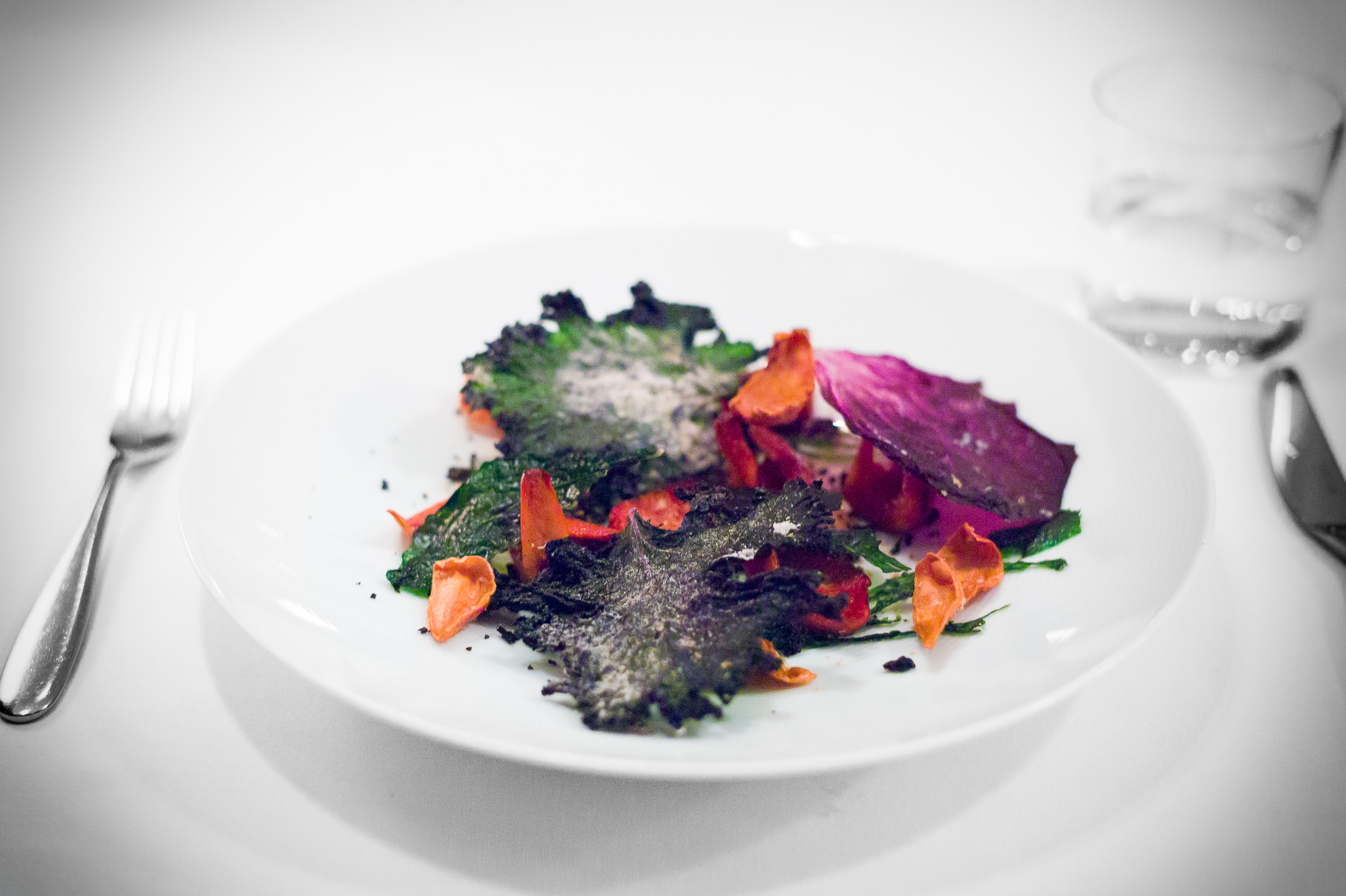 7th Course: Mushrooms with autumn leaves and sticks