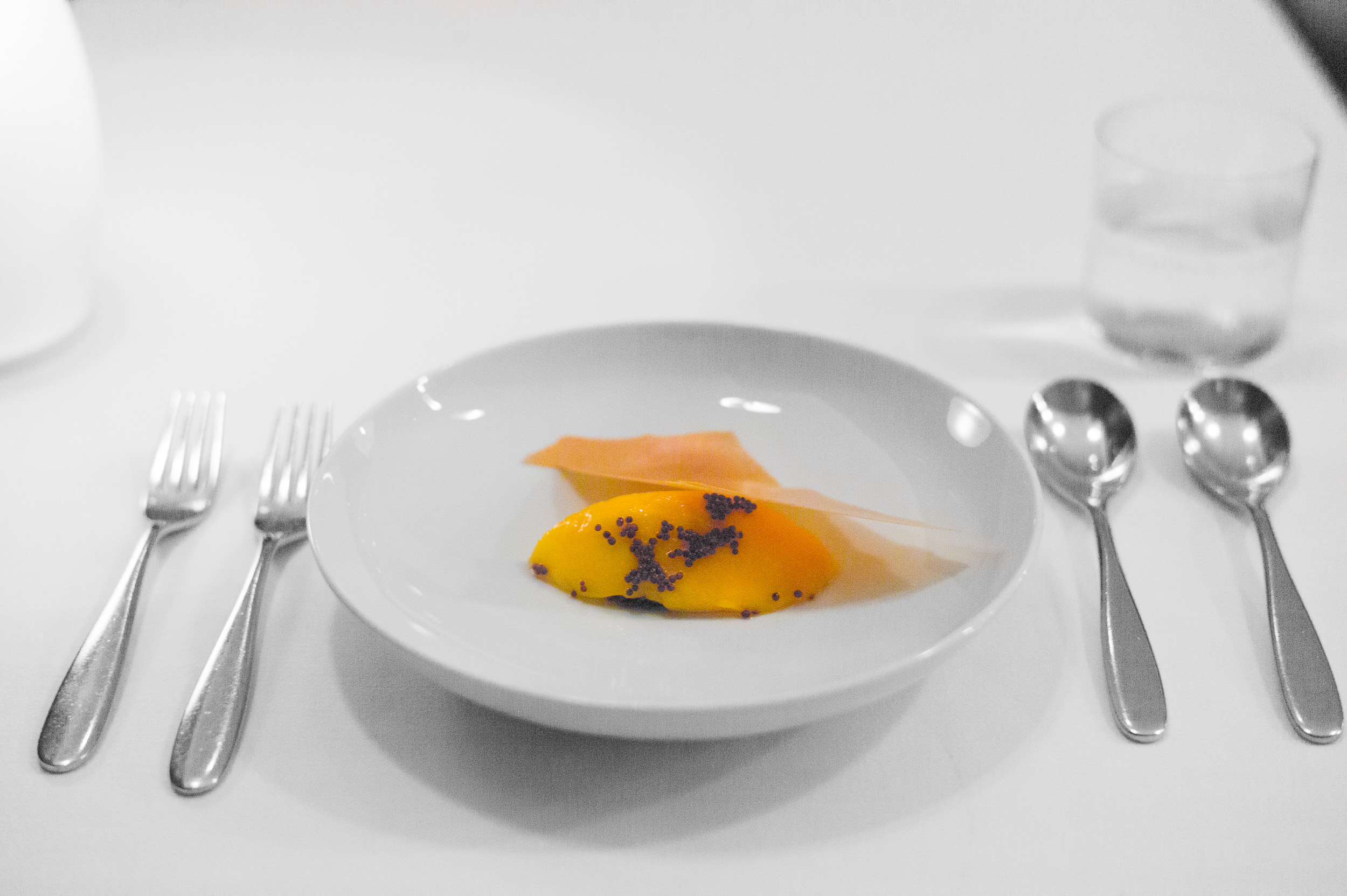 9th Course: Mango and mustard