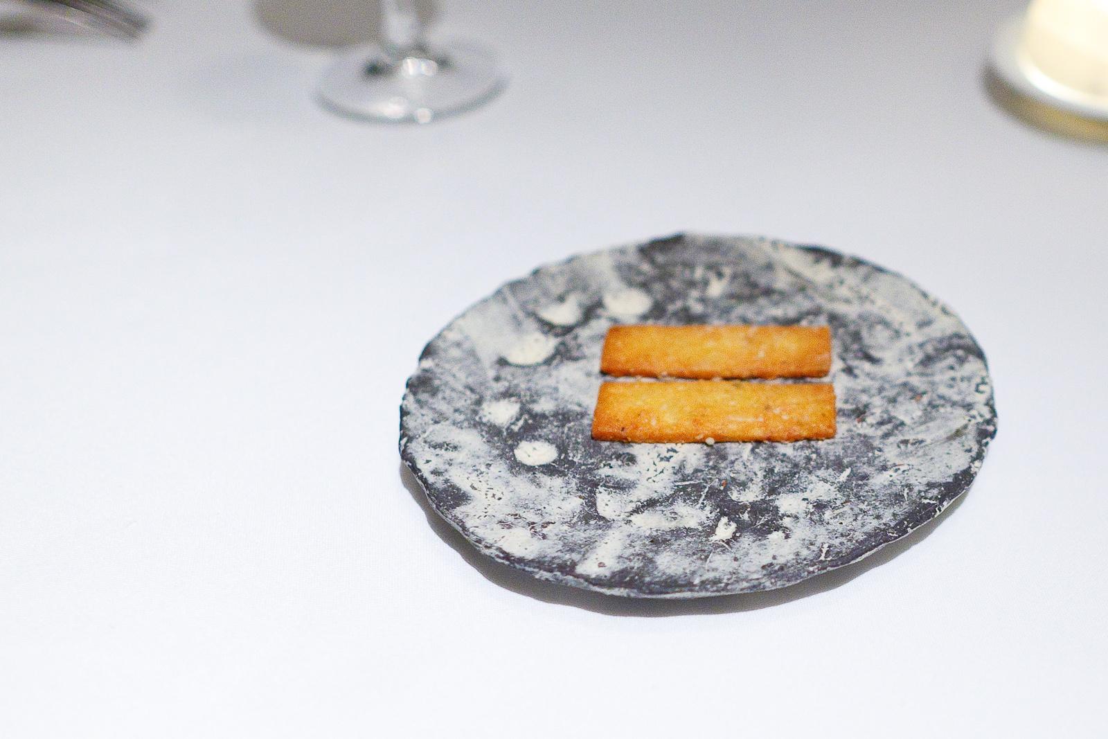 1st Course: Roquefort cheese sablé