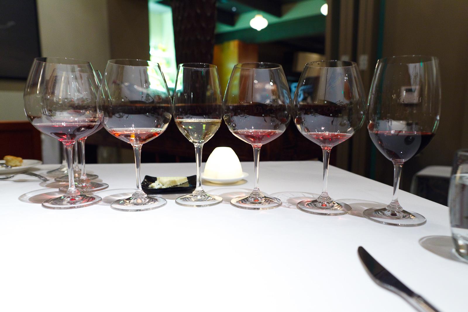 Wine pairing: 2009 COS Rami,9 Bruno Clair Pino Noir Marsanny, 2007 Domaine de la Tournelle, 2007 Jacques Puffeney, 2008 Domaine Maume Gevrey-Chambertin, 2008 Pride Mountain Cabernet
