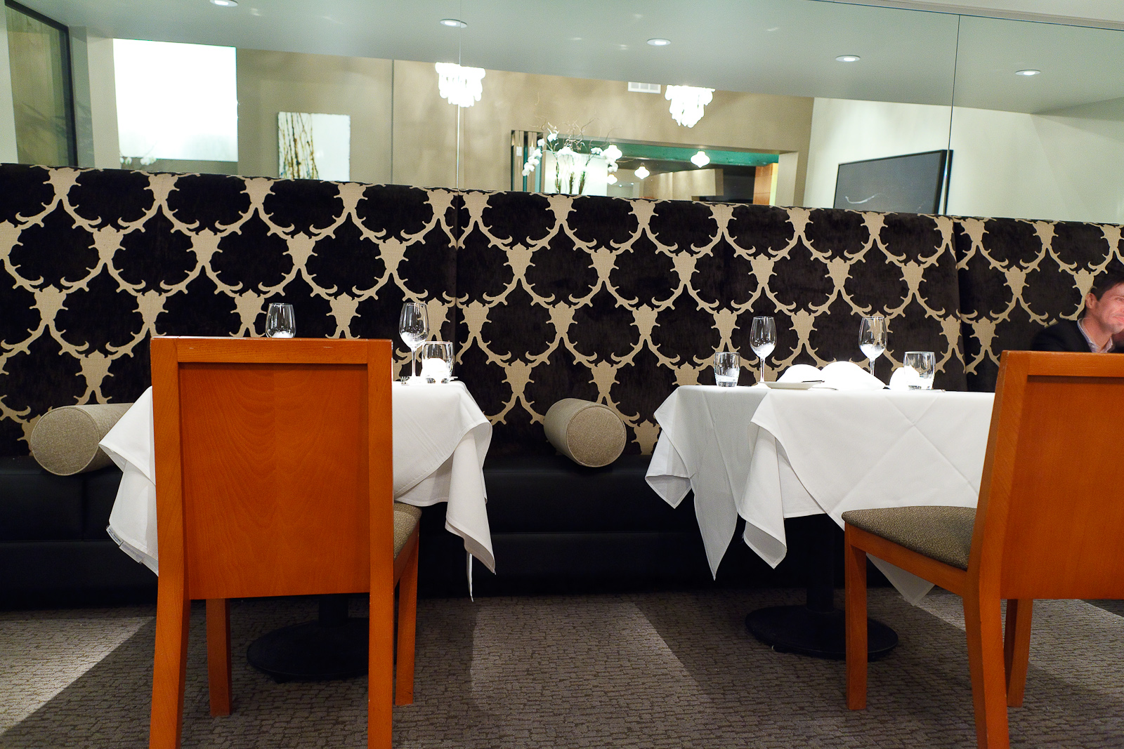 Benches in the new dining room