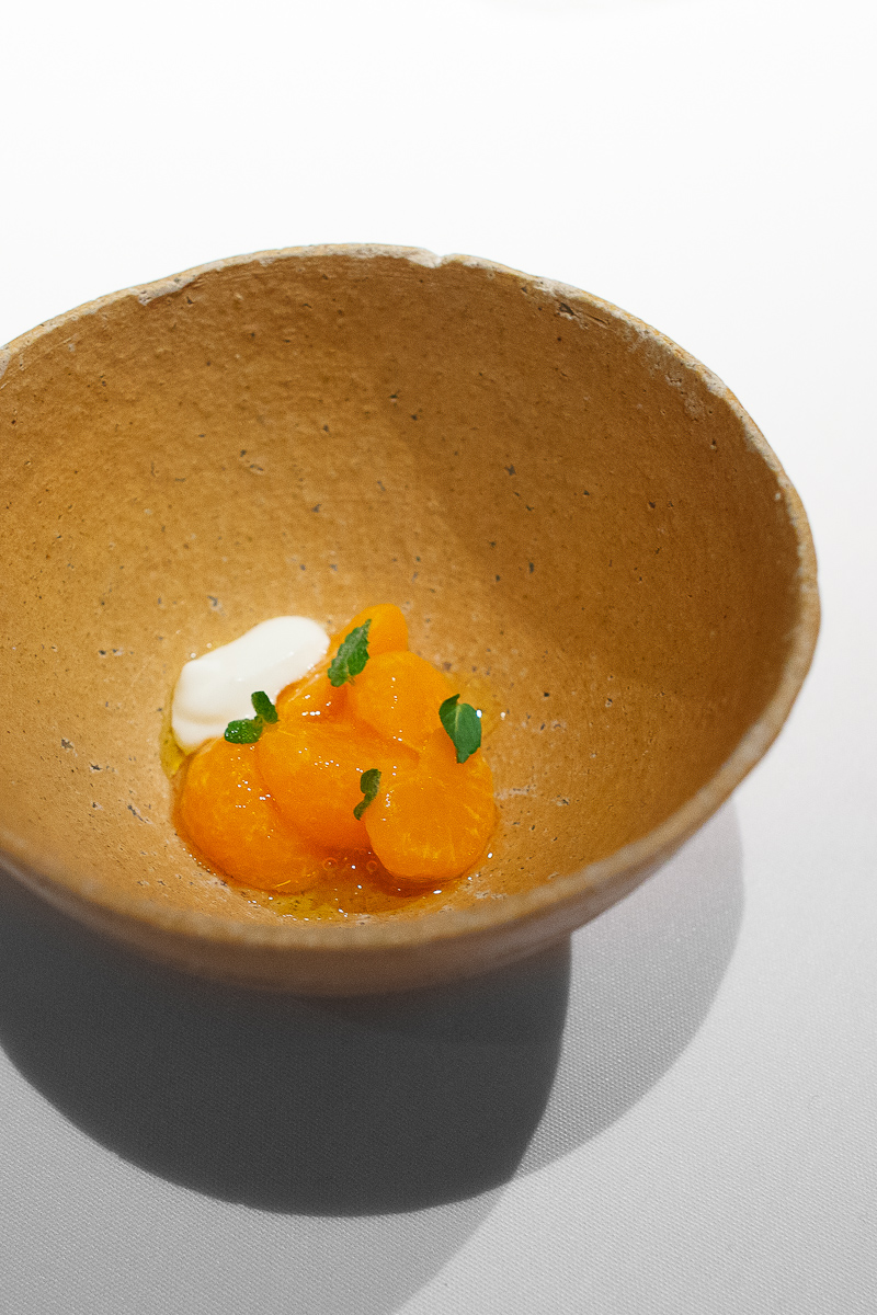 4th Course: Citrus and jasmine tea, yogurt