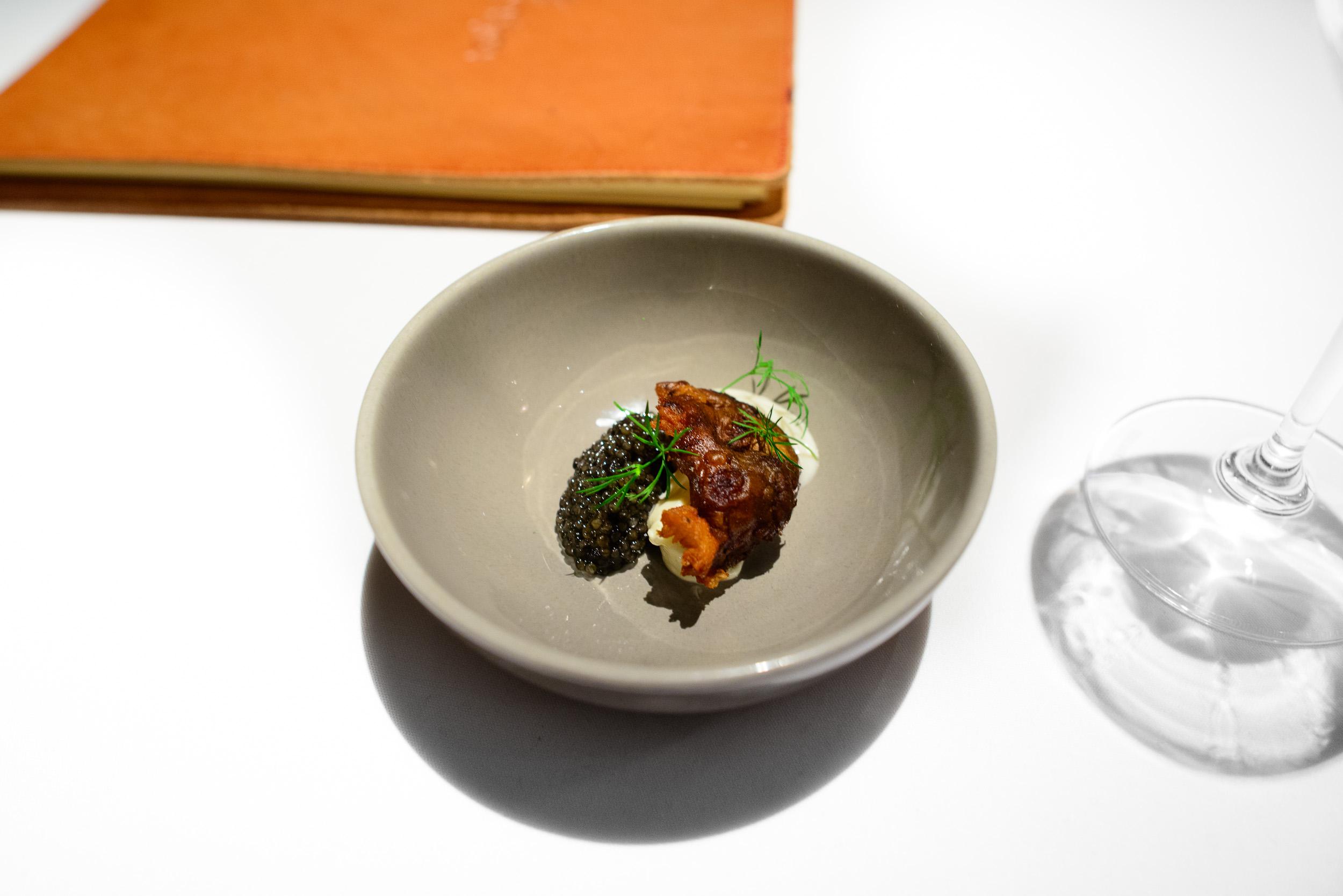 15th Course: Sunchoke, caviar, Canadian potato, lemon, sunchoke