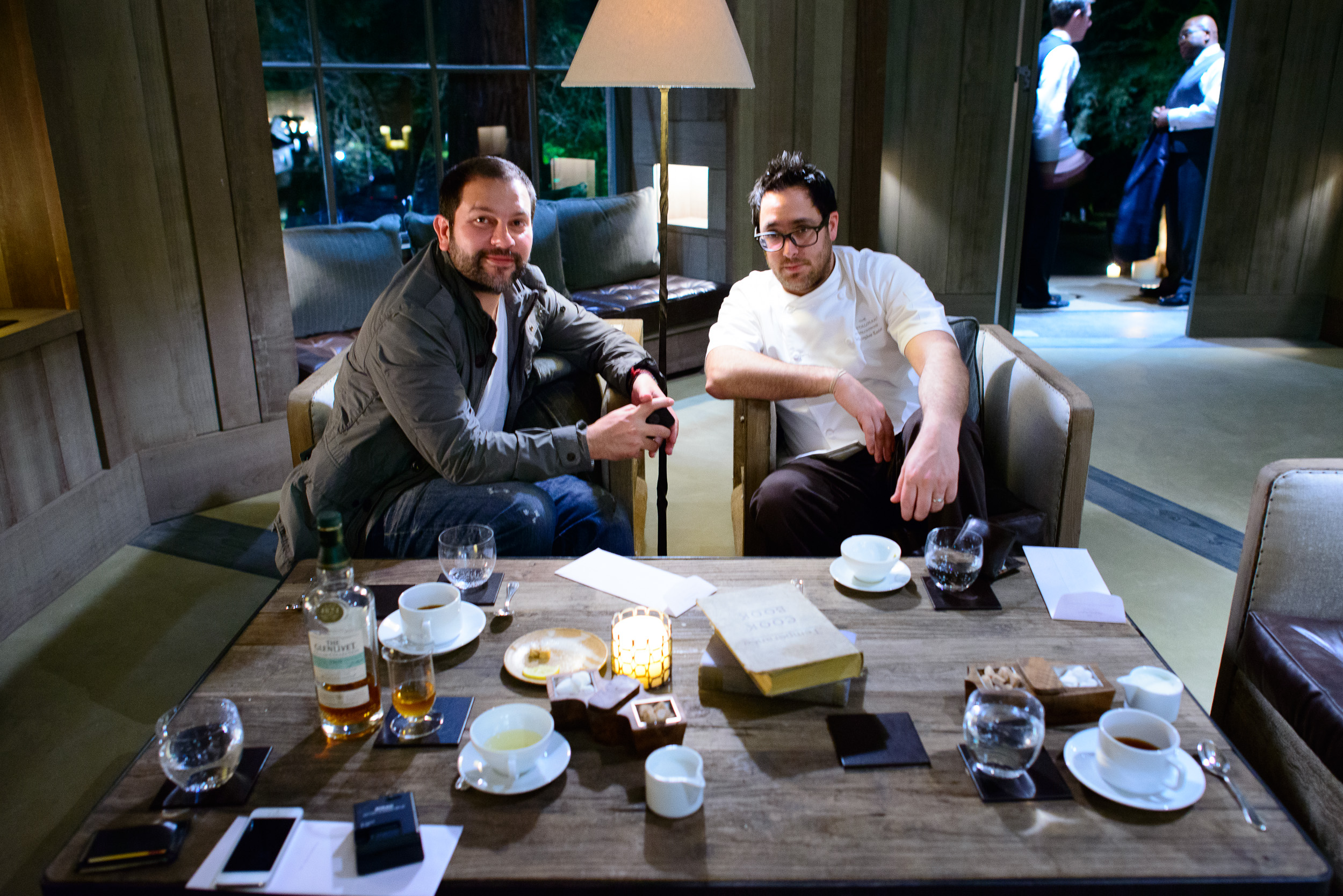 Chefs Enrique Olvera (Pujol, Mexico City) and Christopher Kostow